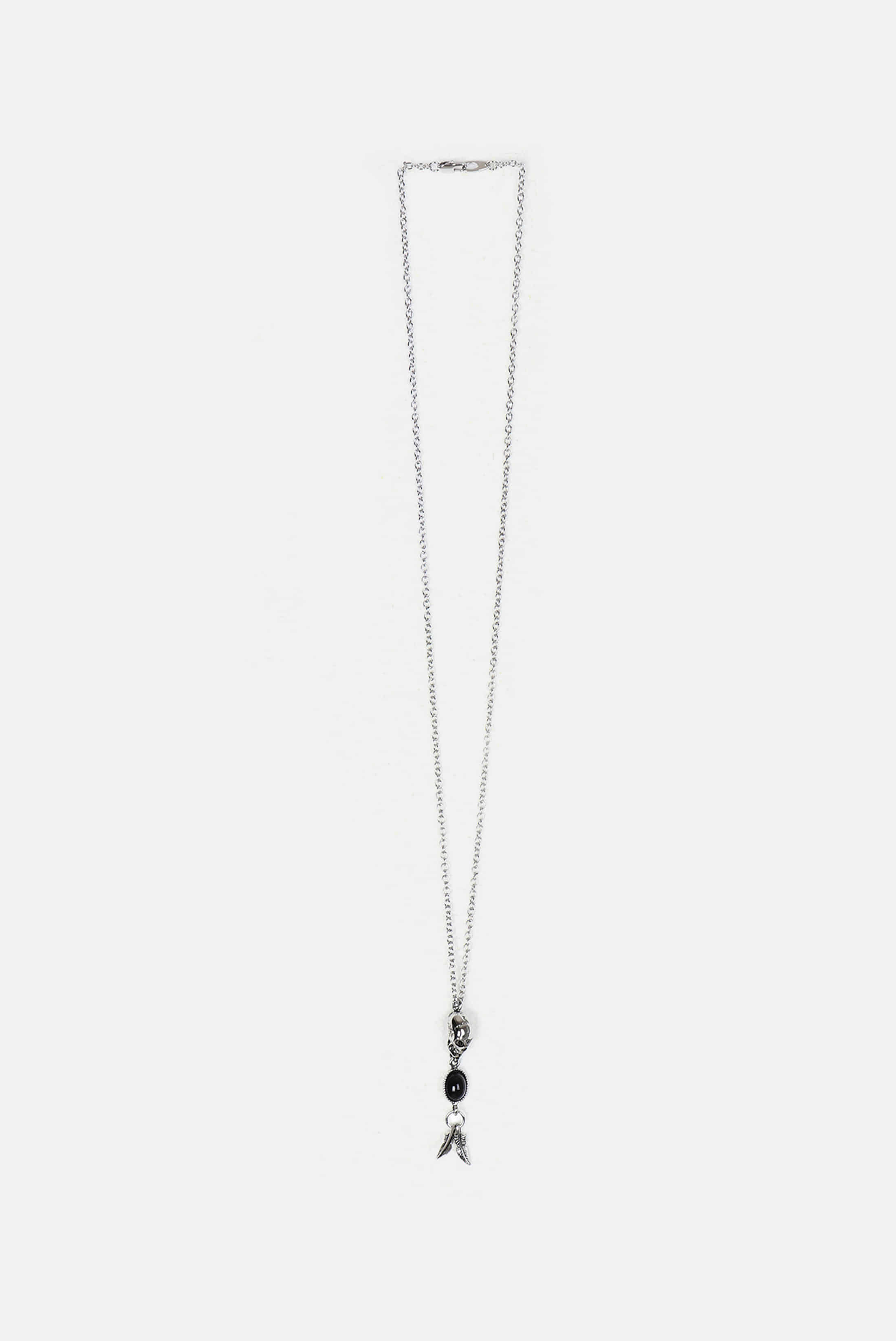 Onyx_Skull Long Necklace