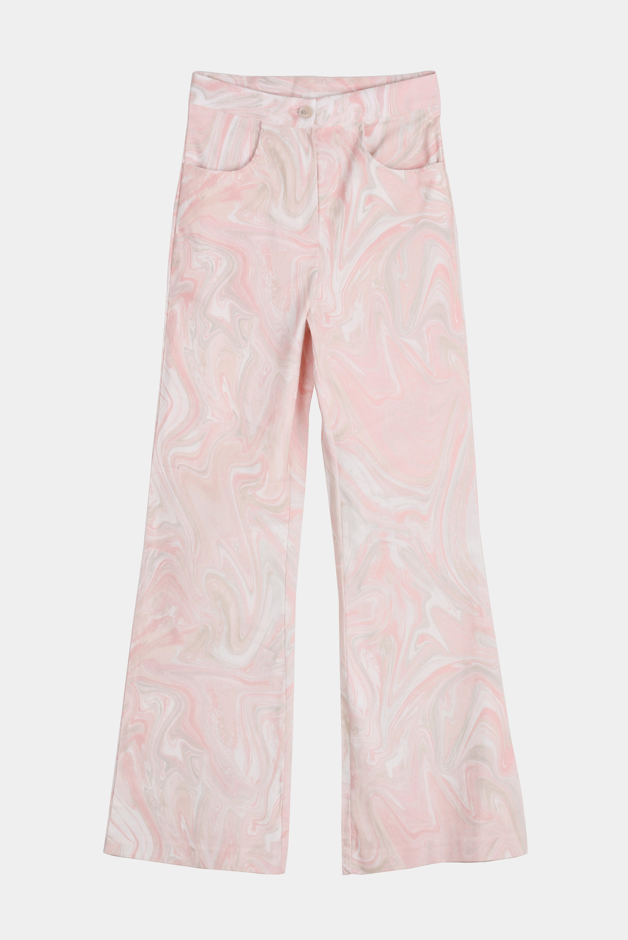 (W) Cream_Curve Trumpet_Pants