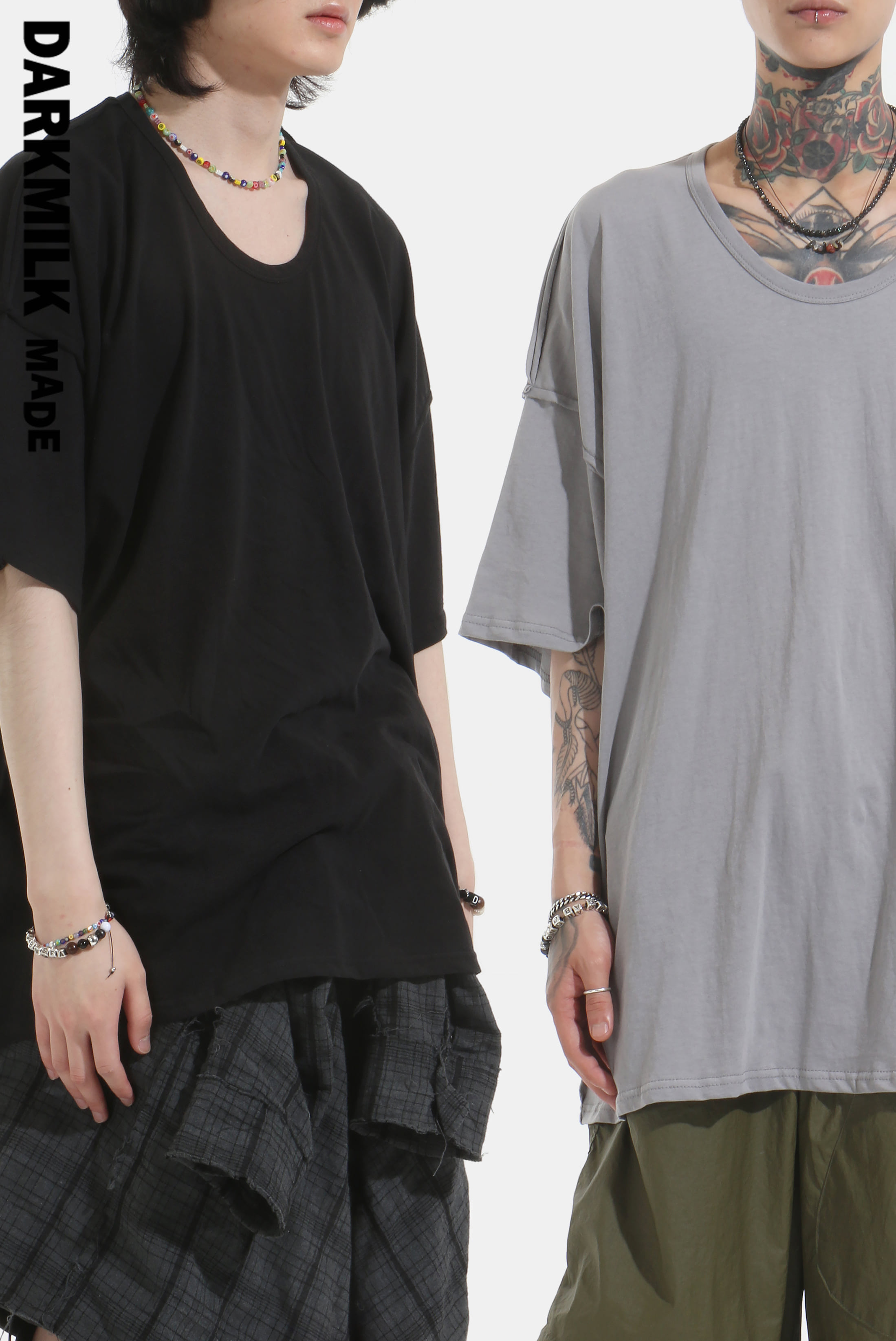 [MADE] Raw_Edge Outline U_Neck Over 1/2 T [SALE 20%]