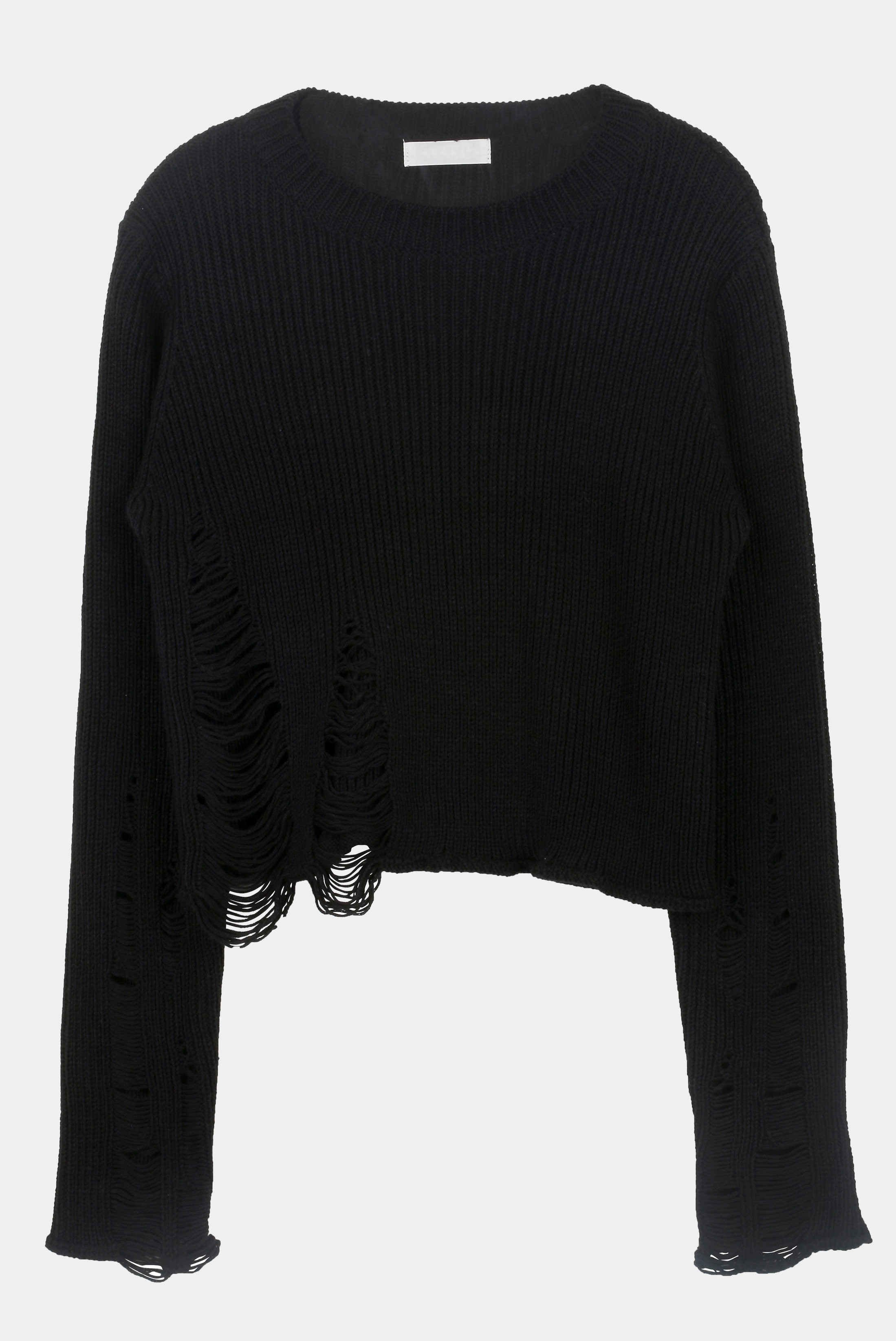 (W) Rough_Demage Crop_Knit