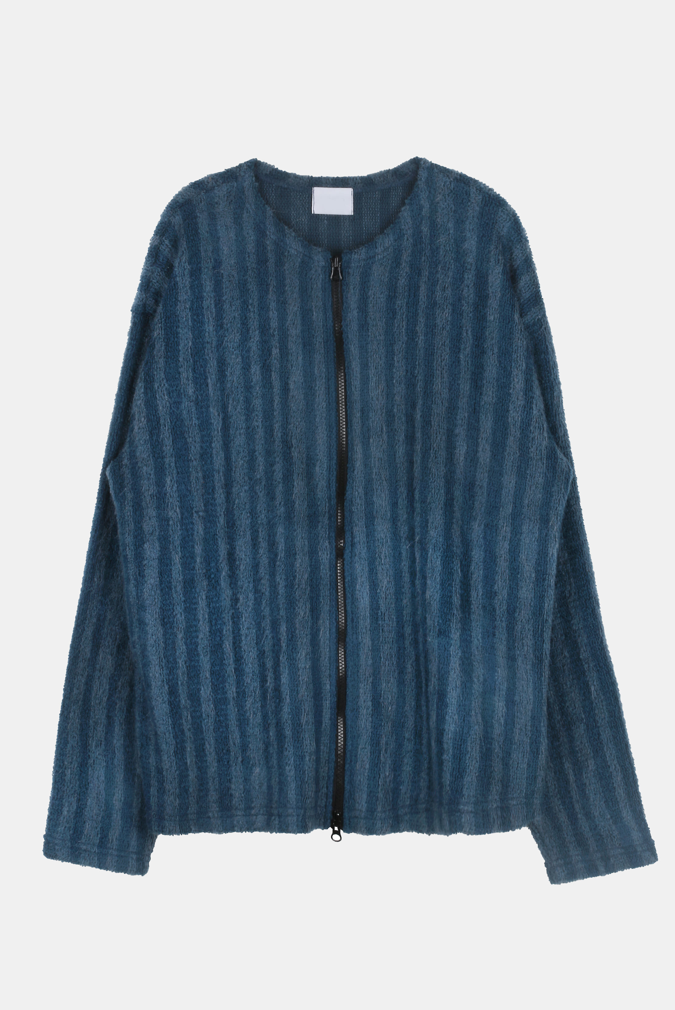 Mohair Stripe Two-Way Cardican