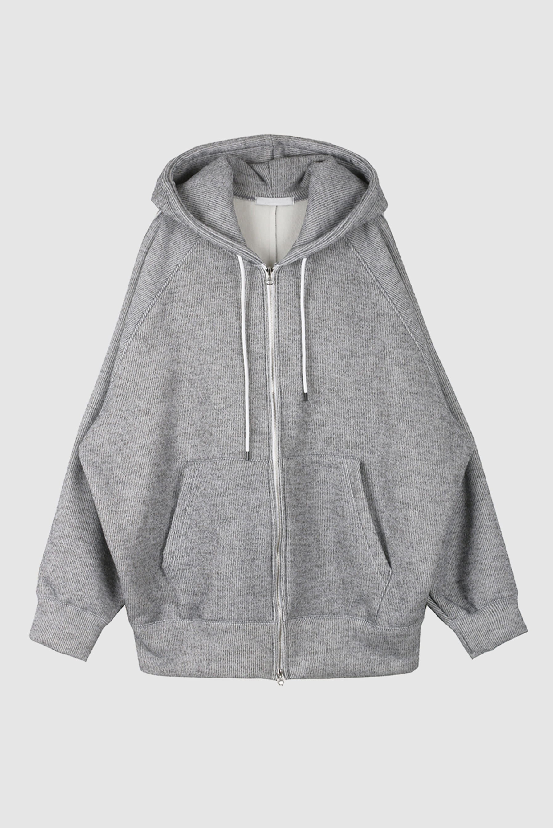 Double Cotton Over Hood Zip-up