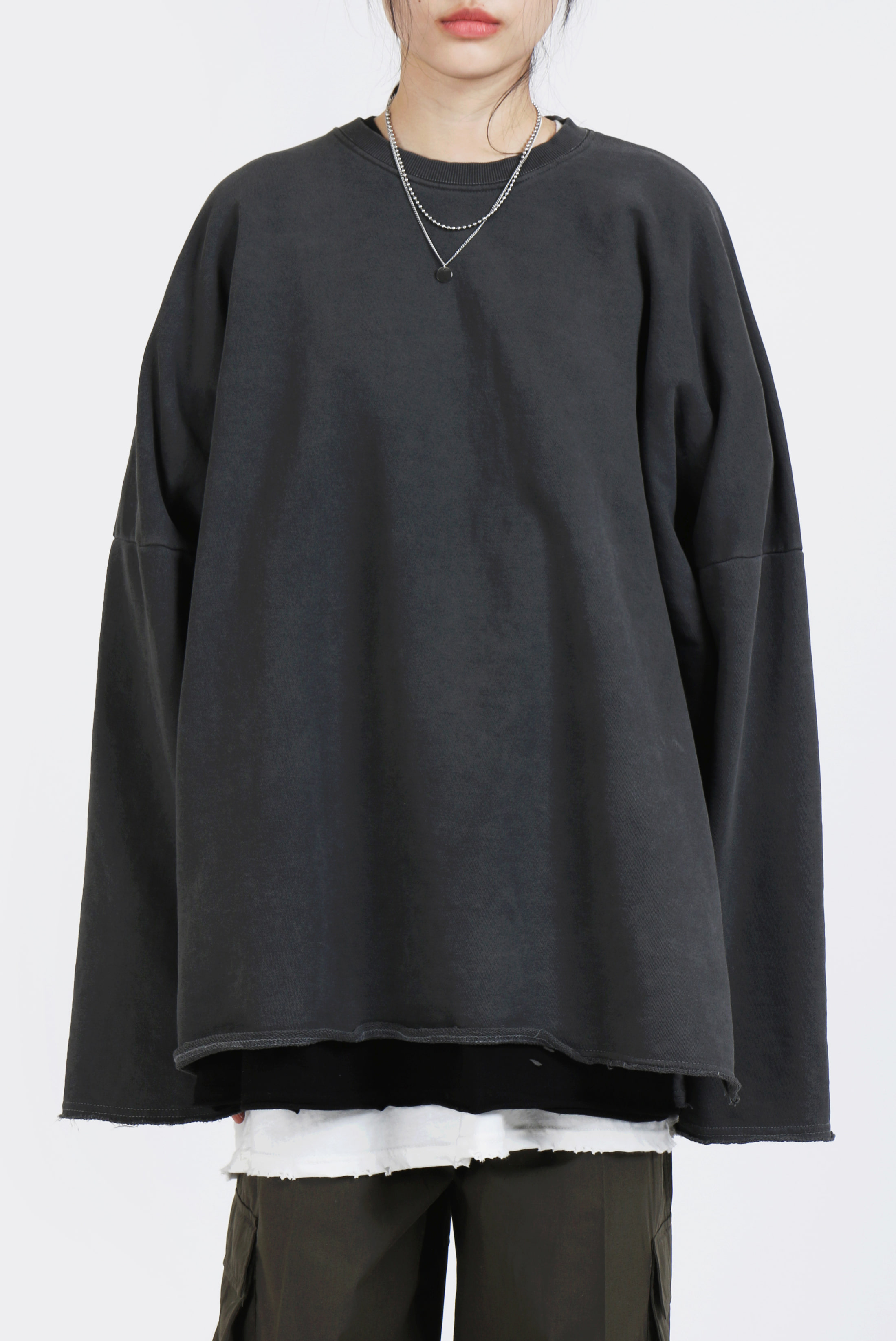Dying_Cotton Long Sweatshirts