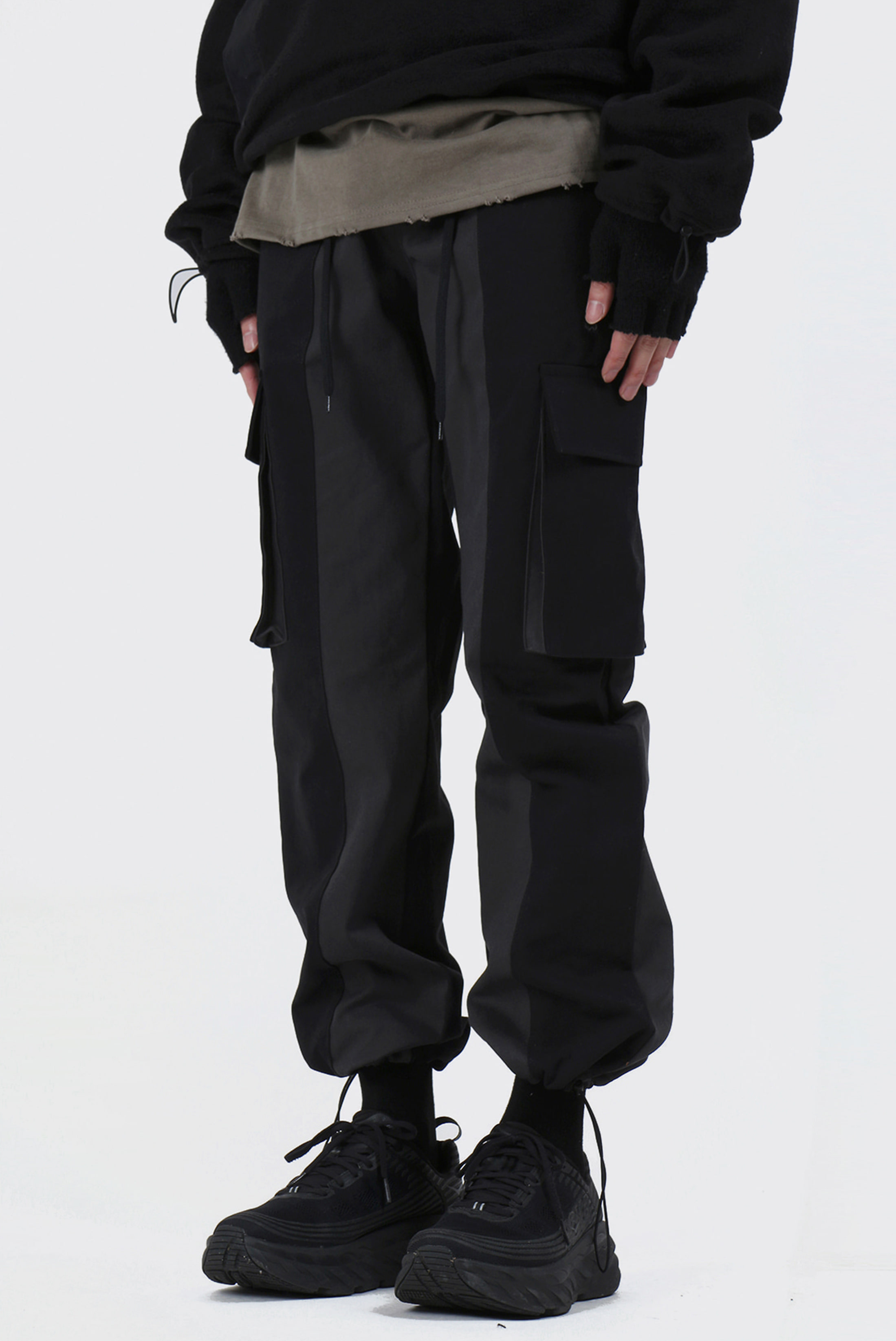 Half_Color Cargo Pants