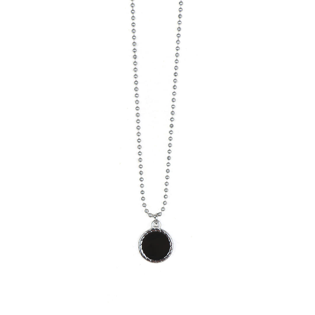 Surgical_Steel Onyx Necklace