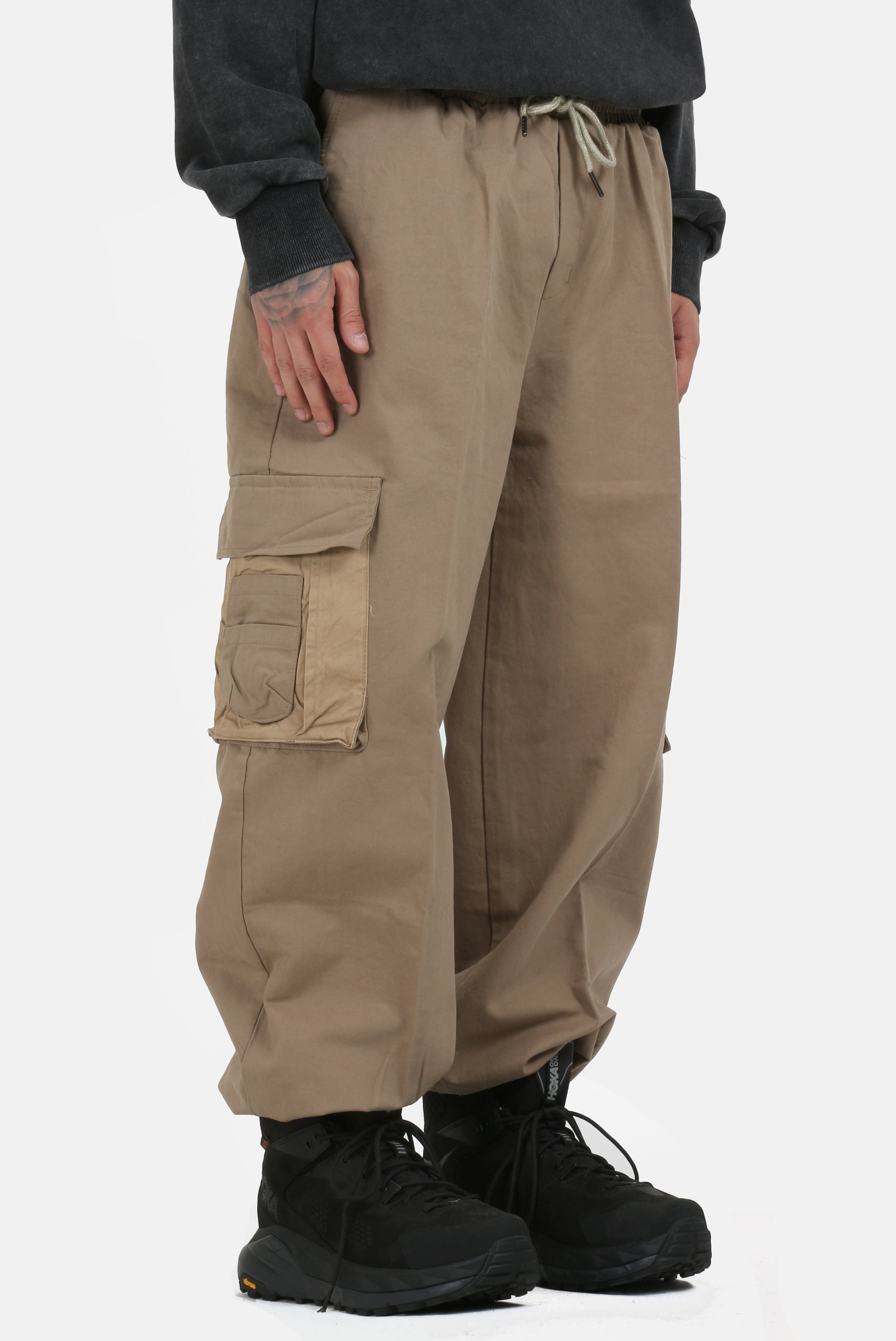 Color_Point Double_Poket Pants