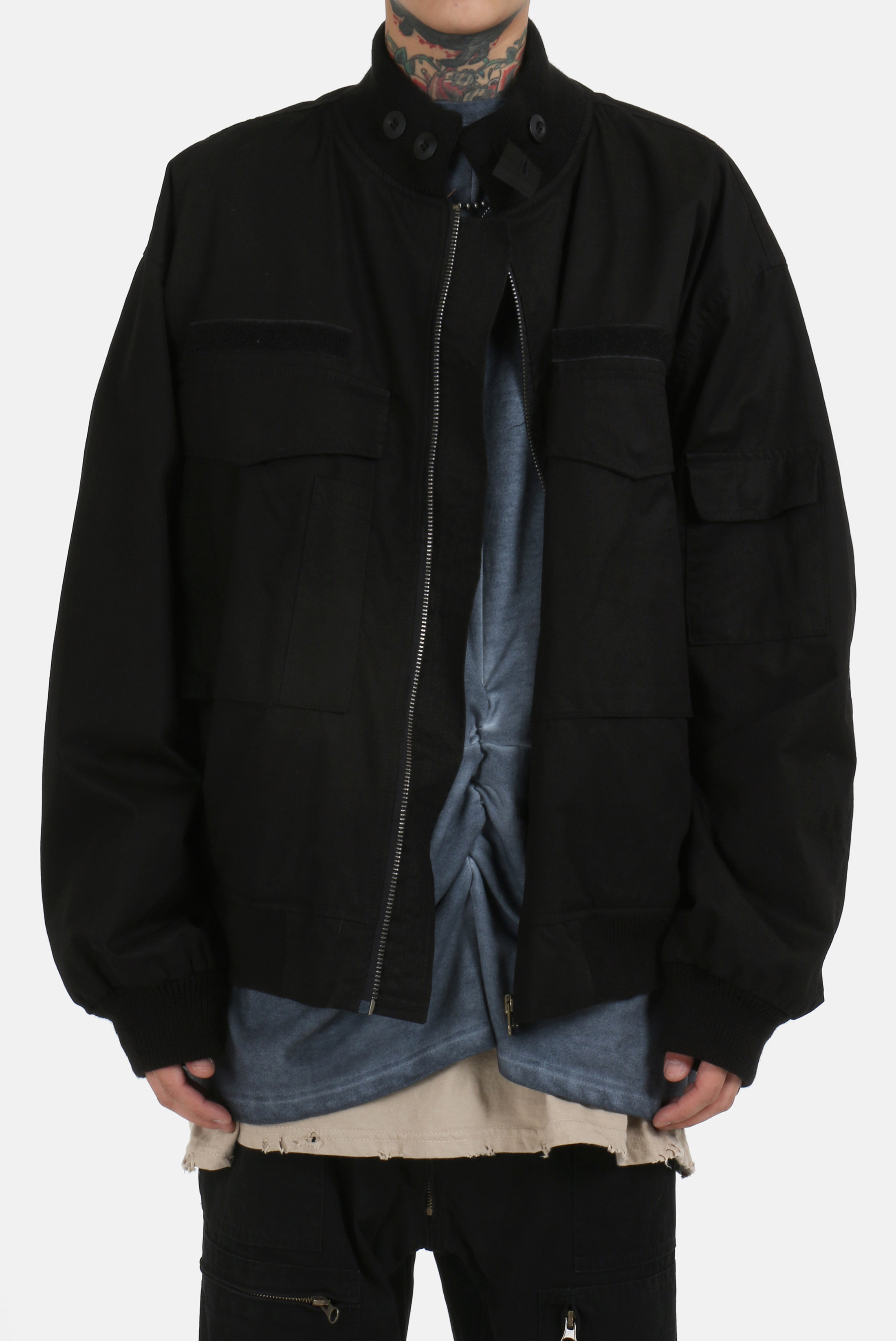 Over_Fit Hard_Rip Field Jacket