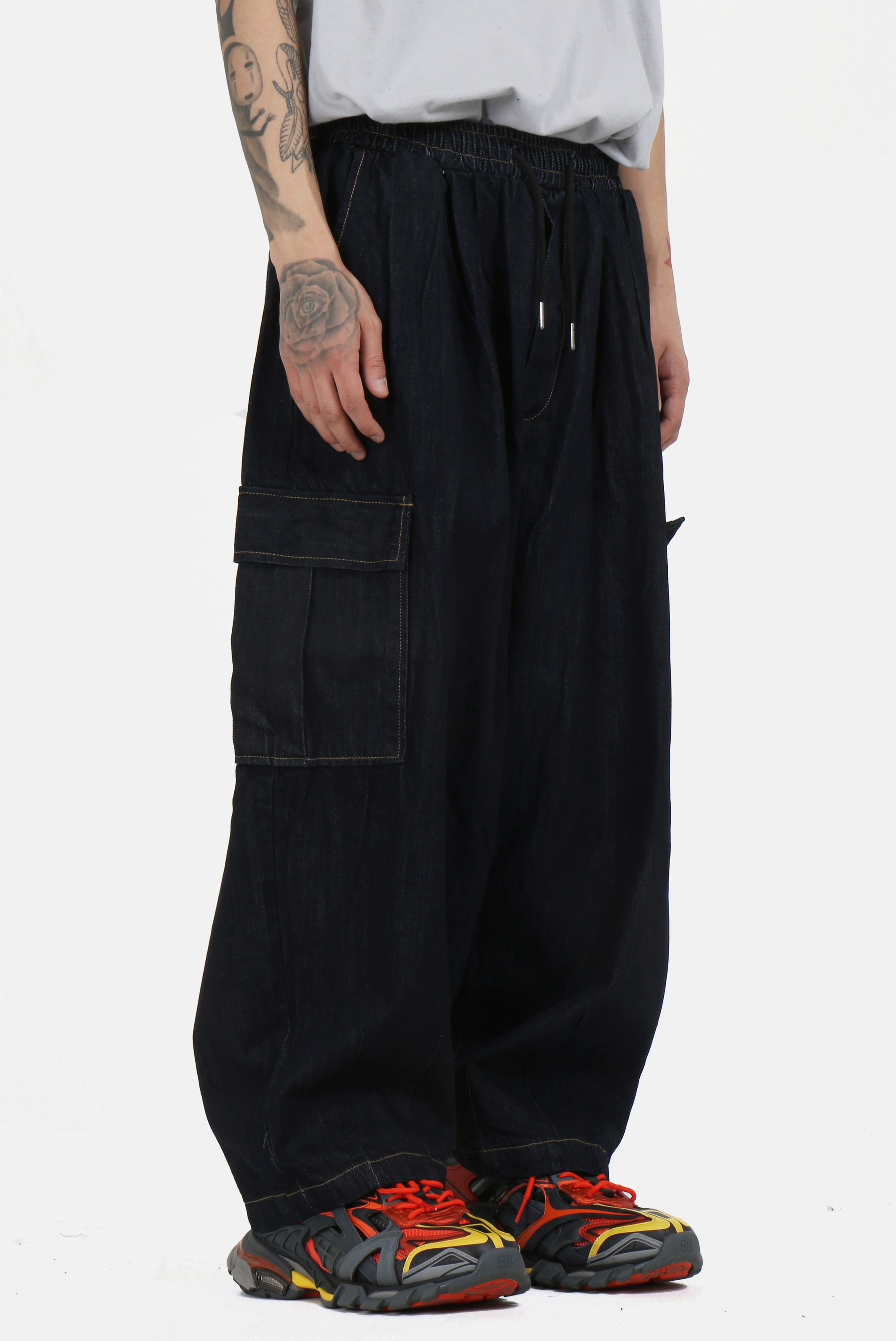 Denim Dart_Ballon Cargo Pants