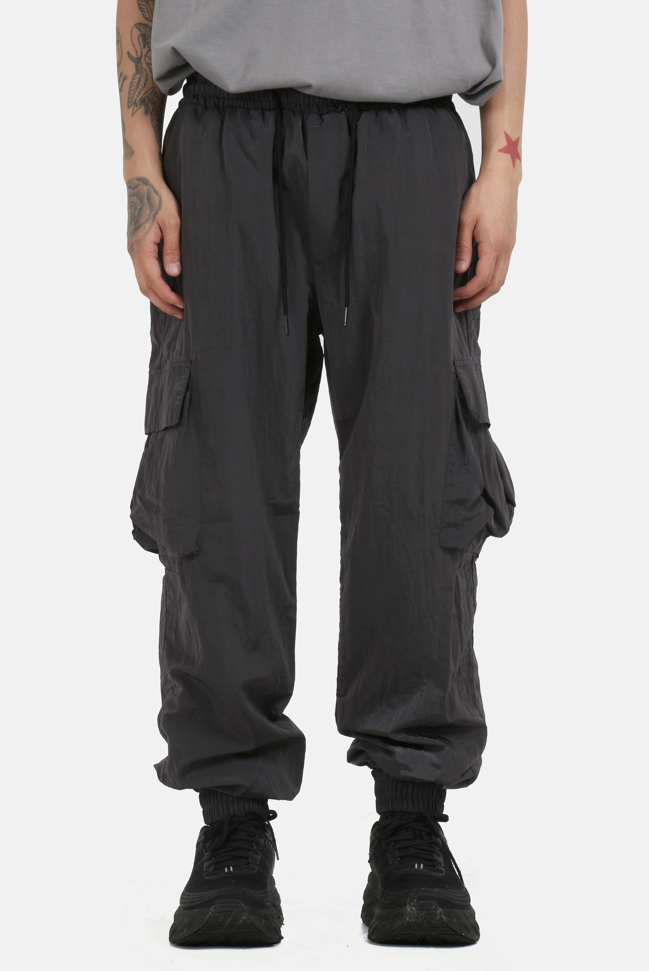Metal_Nylon Cargo Joger_Pants