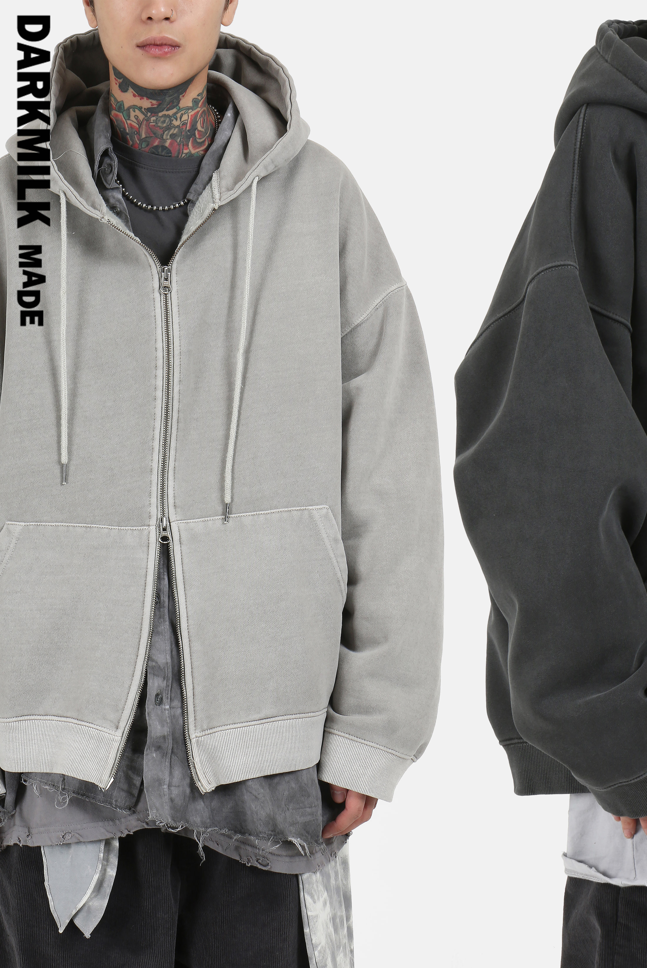 [MADE] Pigment Hard_Cotton Hood Zip_up