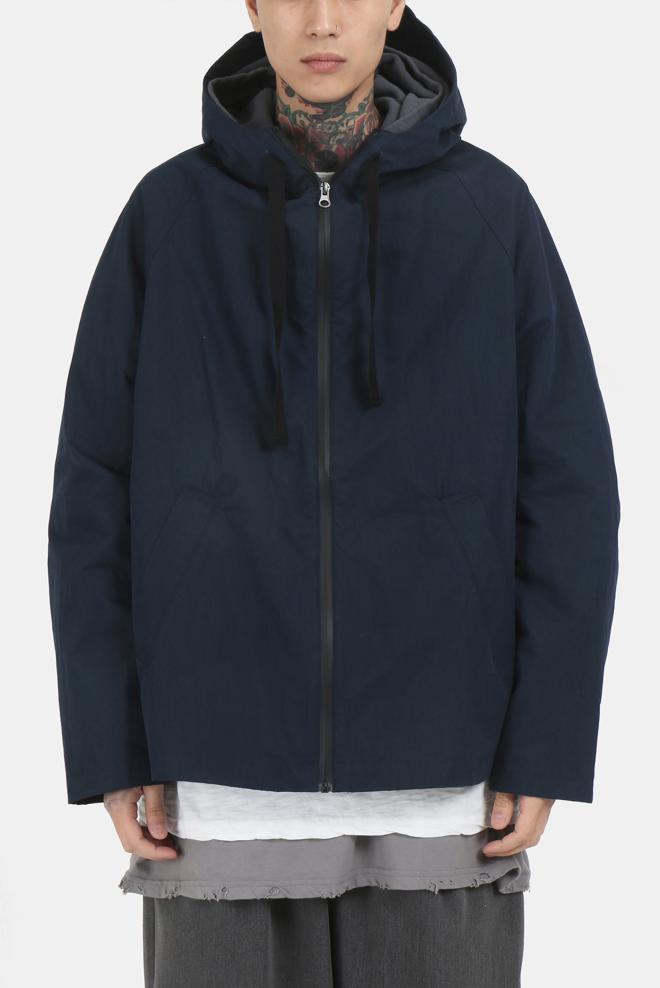 Nylon_Cotton String Hood_Jacket