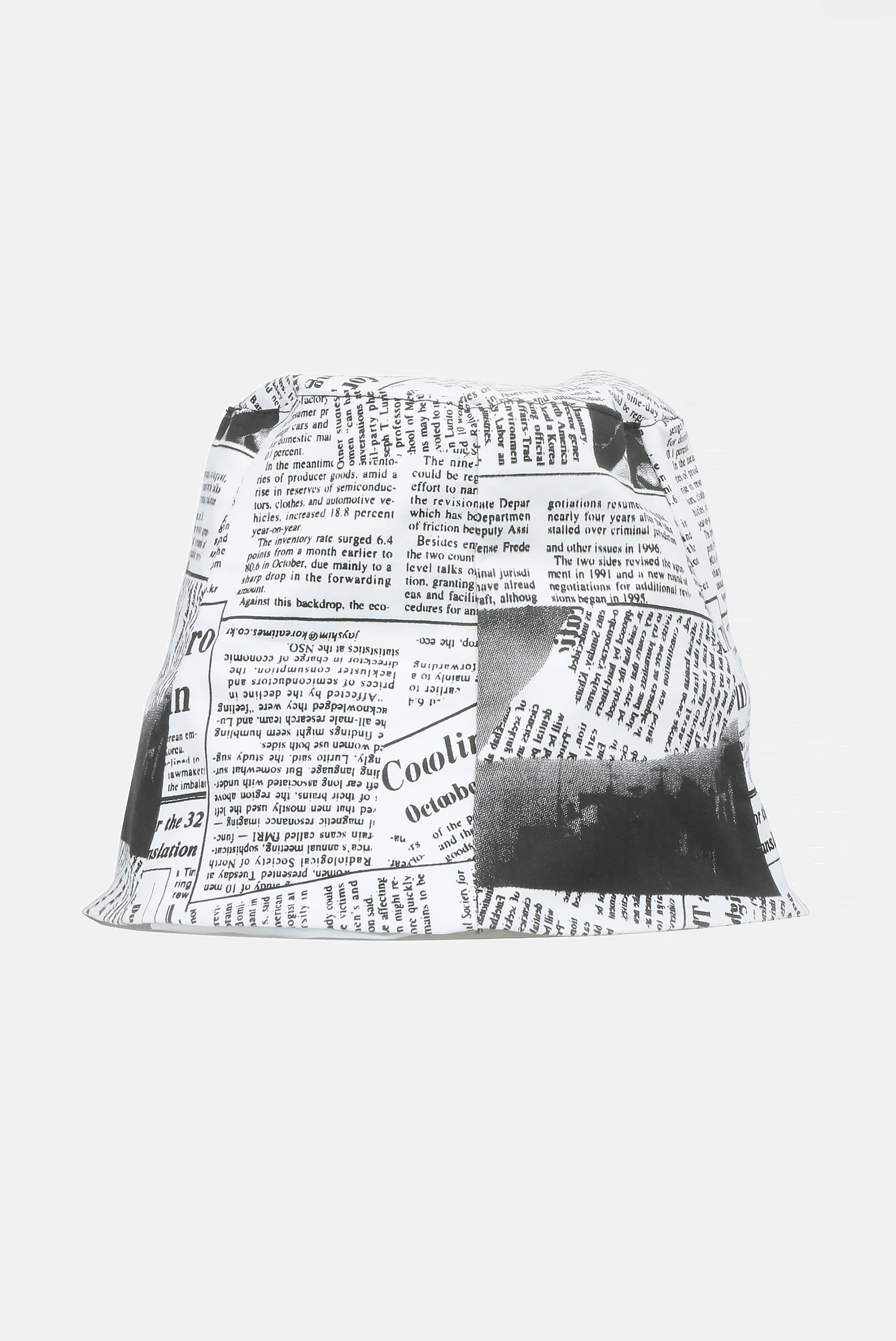 White Newspaper Dip_Bucket Hat