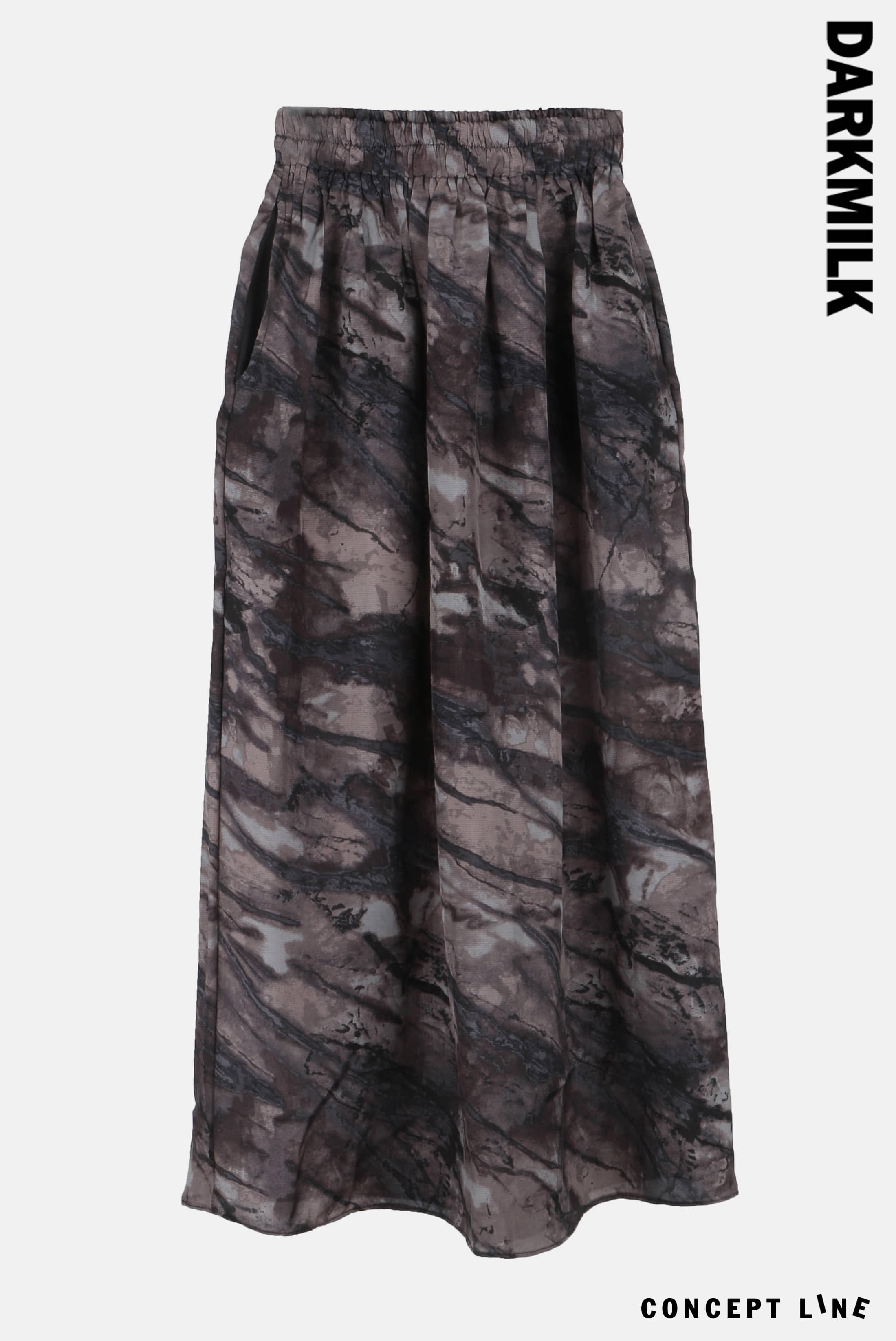 [Concept] Stone_Printed Long_Skirt