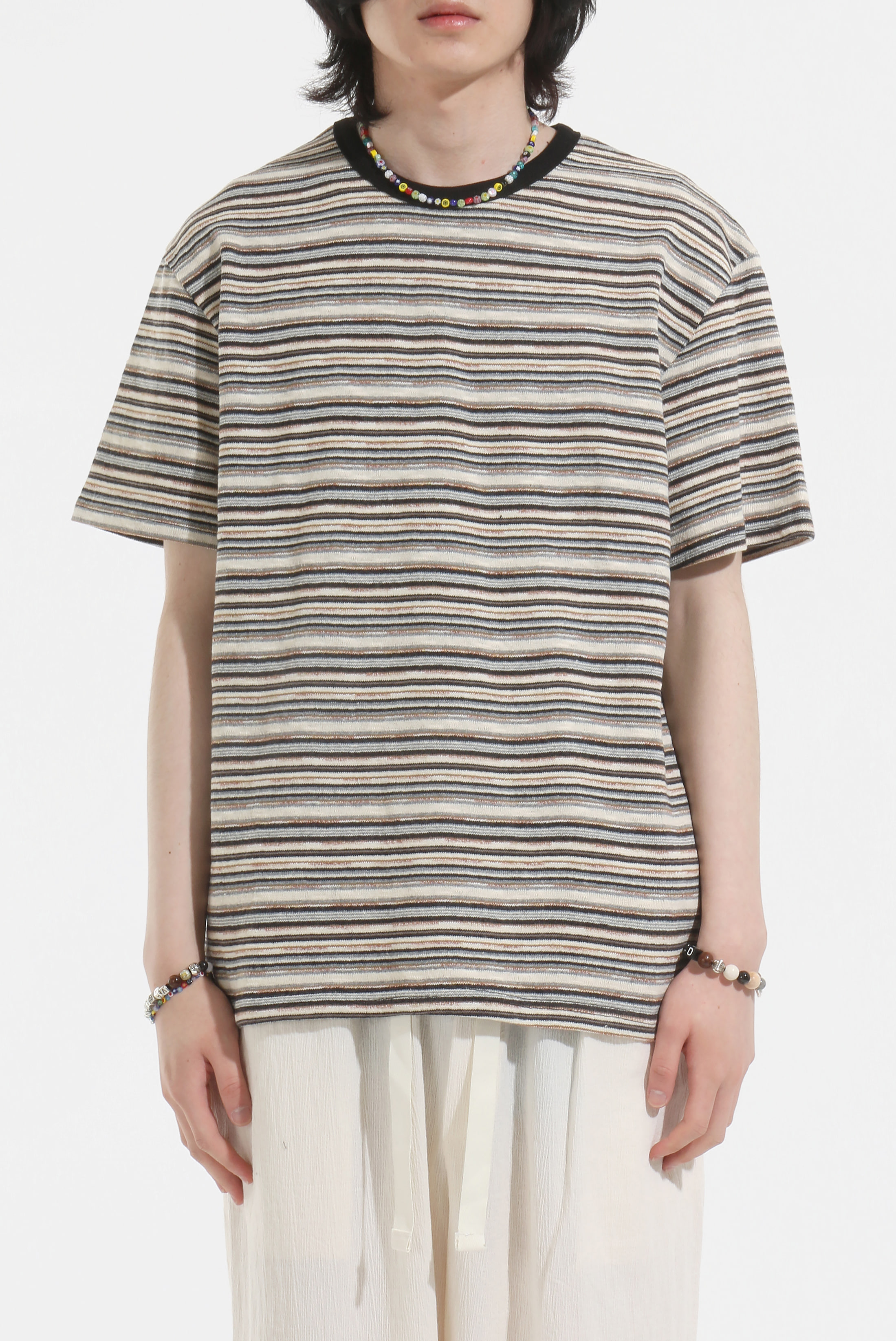 Stripe_Knit Half T