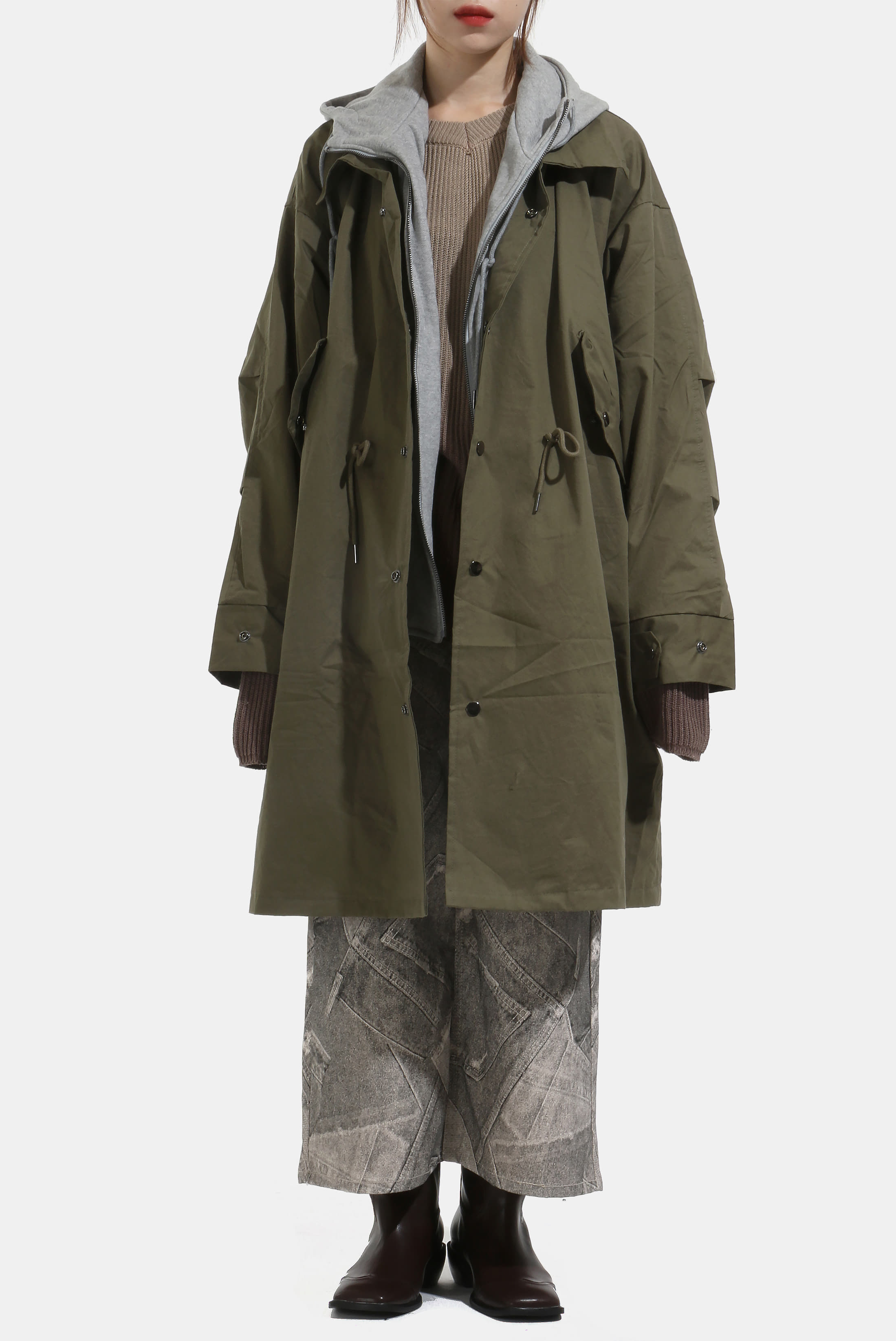 (W) Hood_Set Long Field_Jacket
