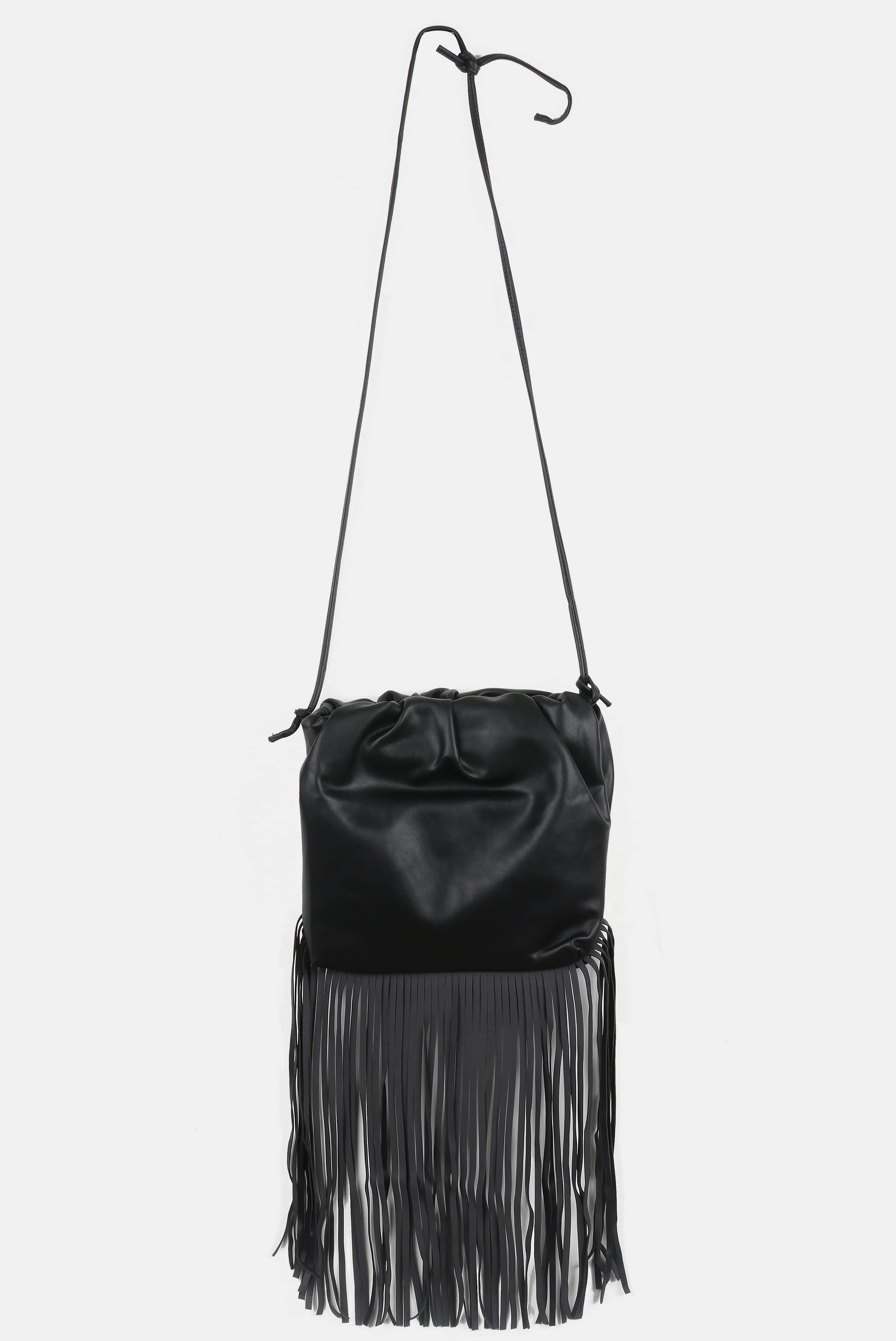 Vintage_Leather Tassel Bag