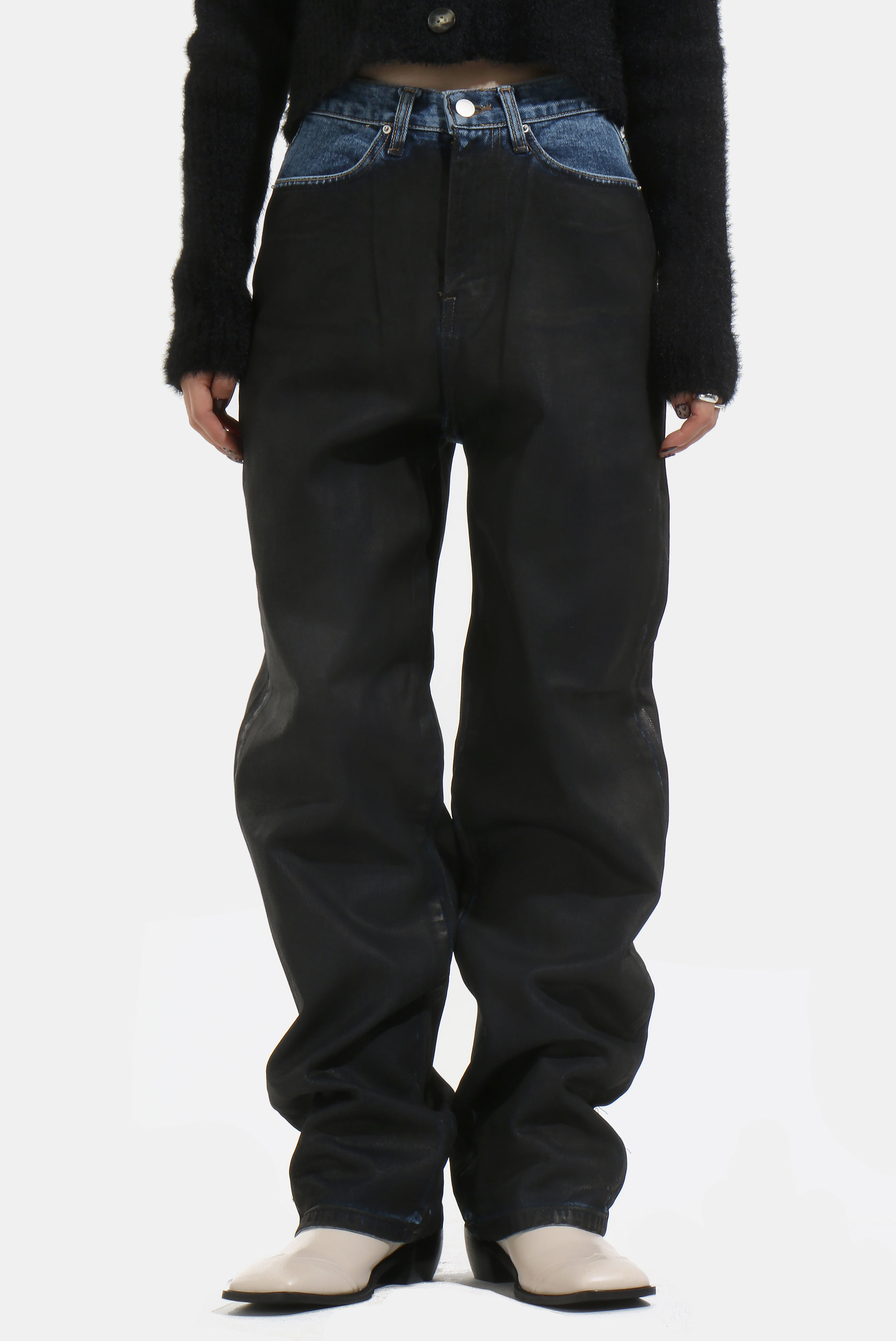 (W) Dirty_Black Cottied Pant