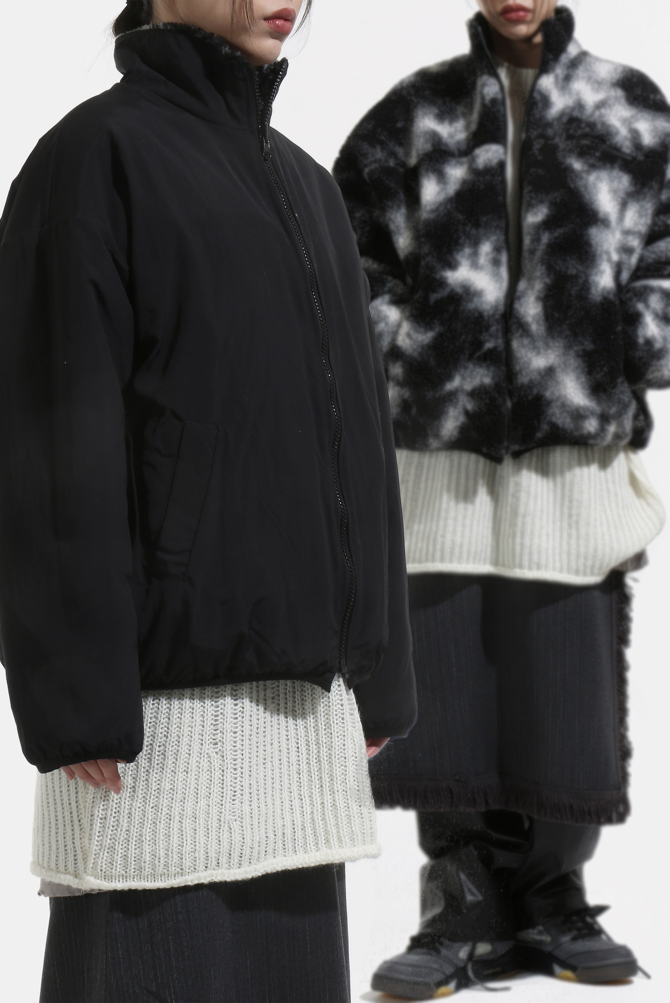 (W) Wool_Sheep Reversible Zip_Up