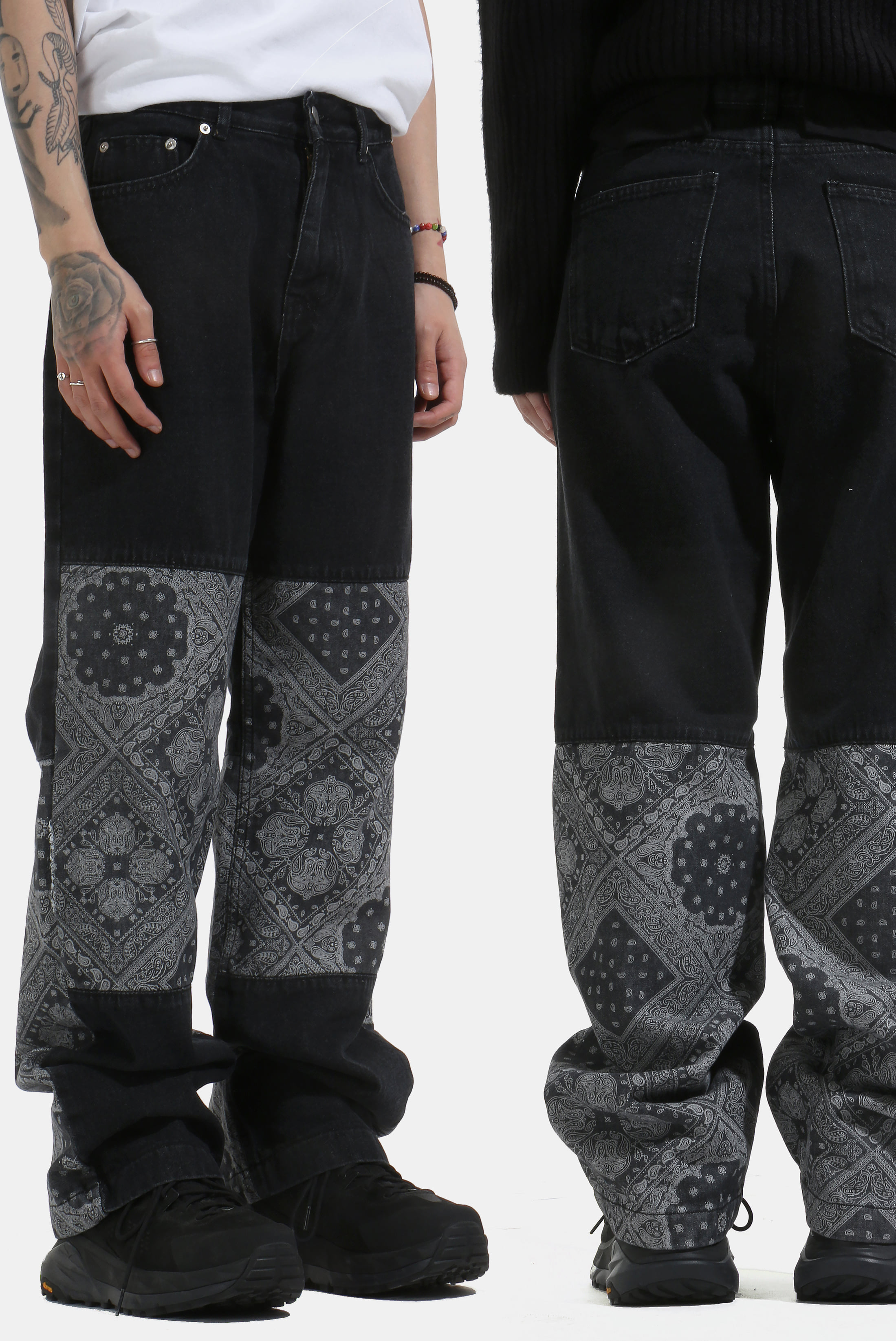 Paisley Color_Scheme Denim Pant