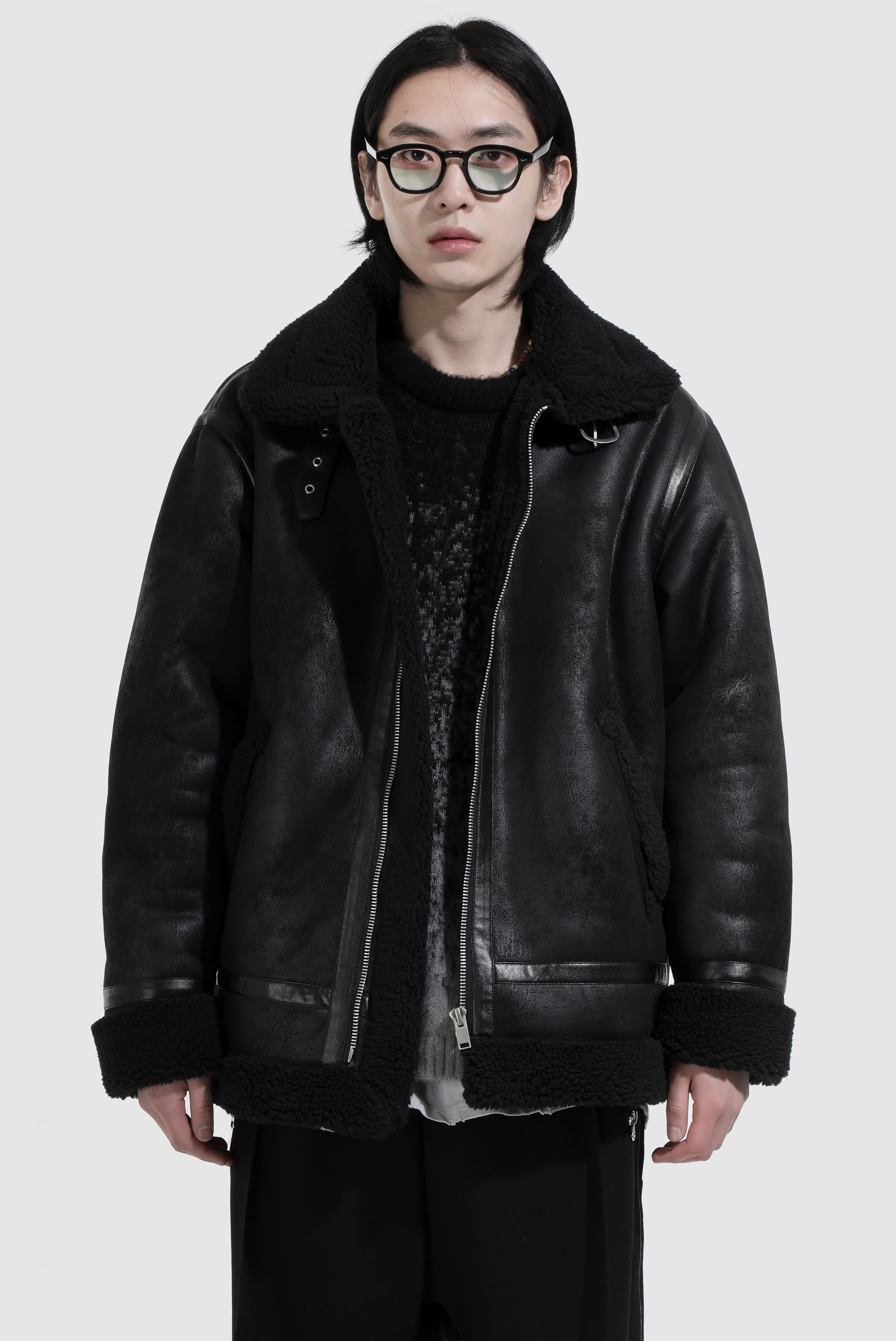 Loose_Fit Shearling Jacket
