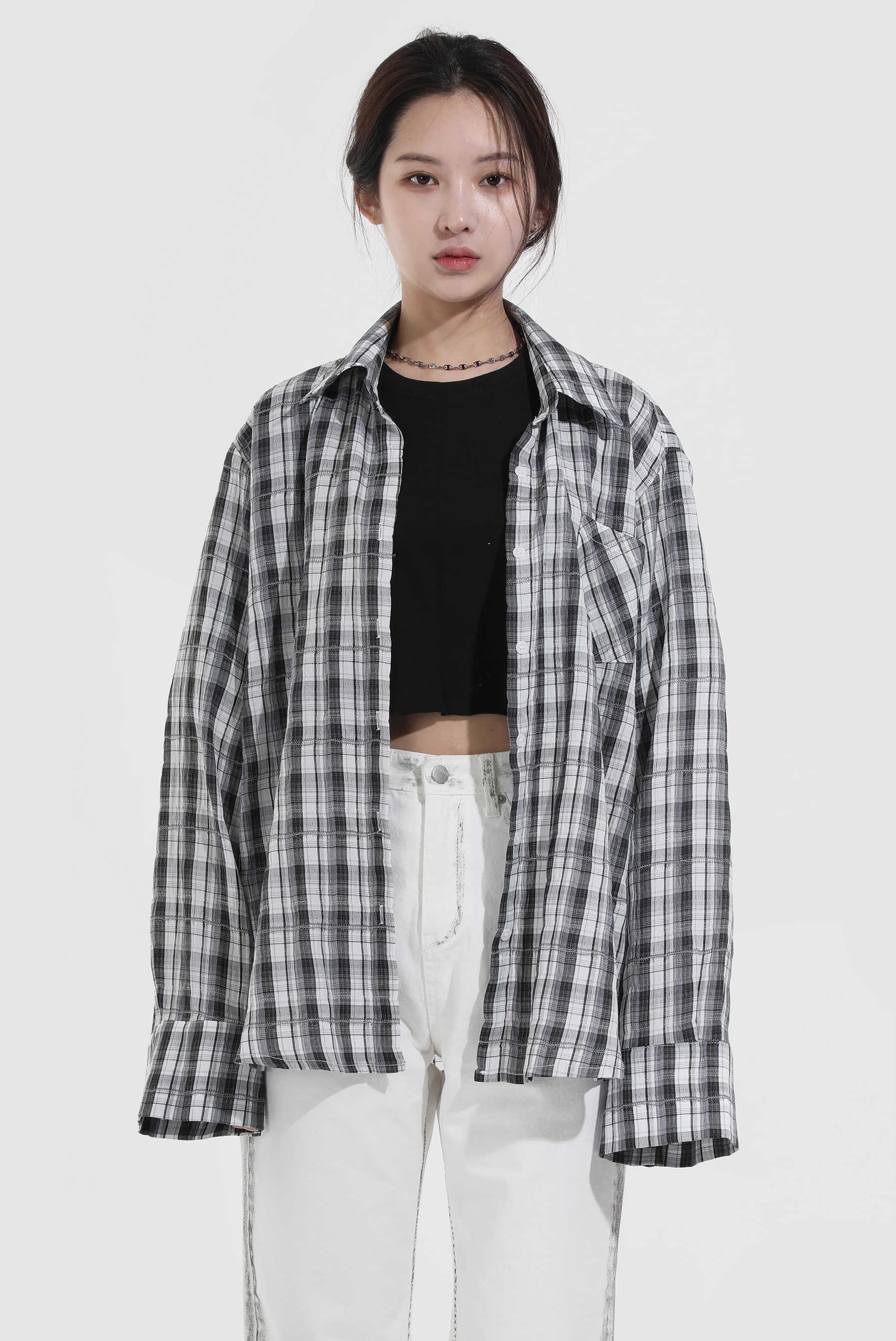Open_Check Shirt
