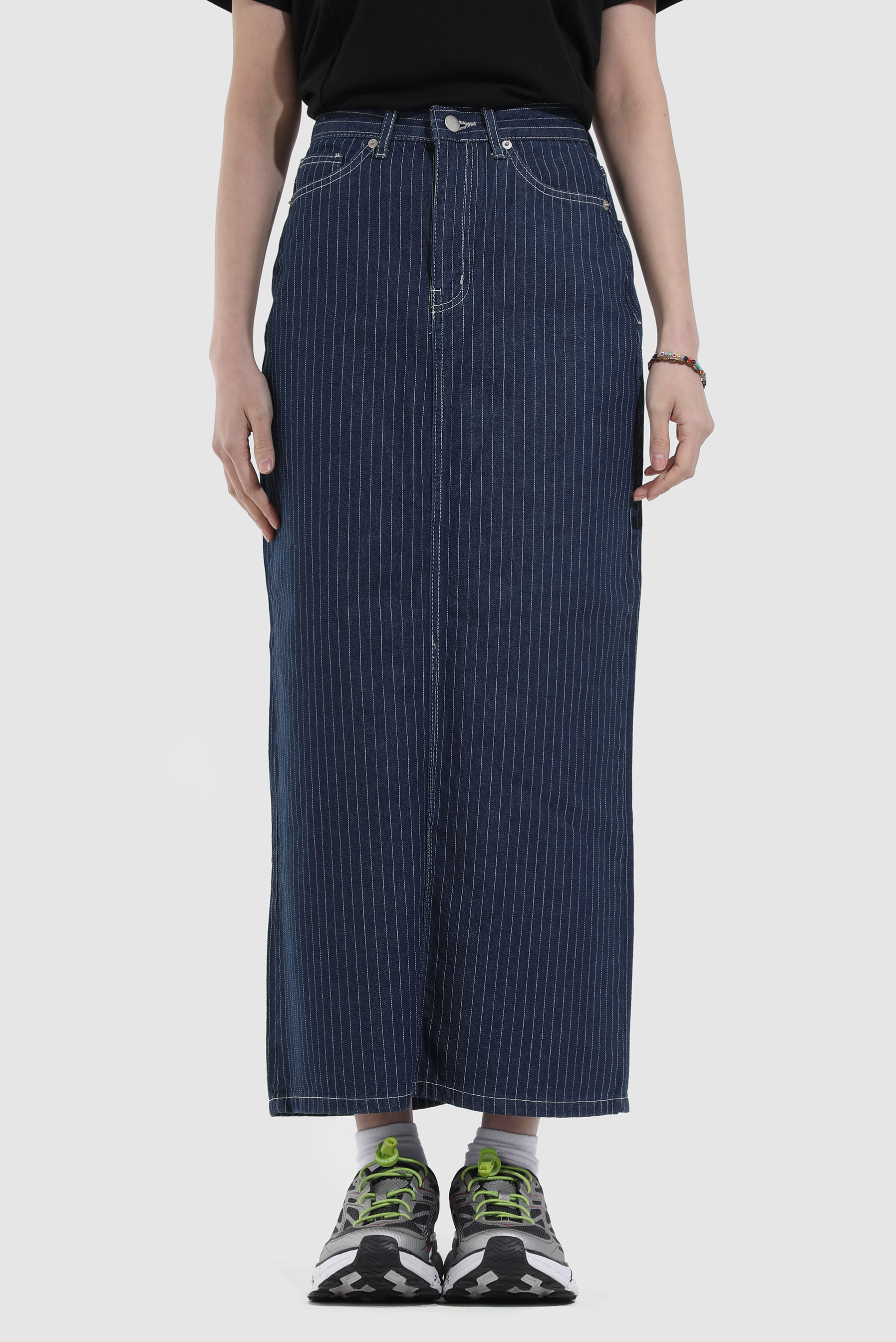 Stripe Maxi_Long Skirt