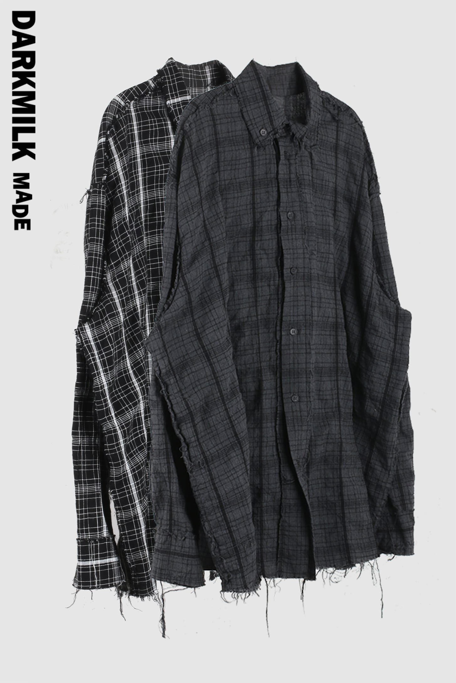 [MADE] 21 Raw_Edge Over Check_Shirt