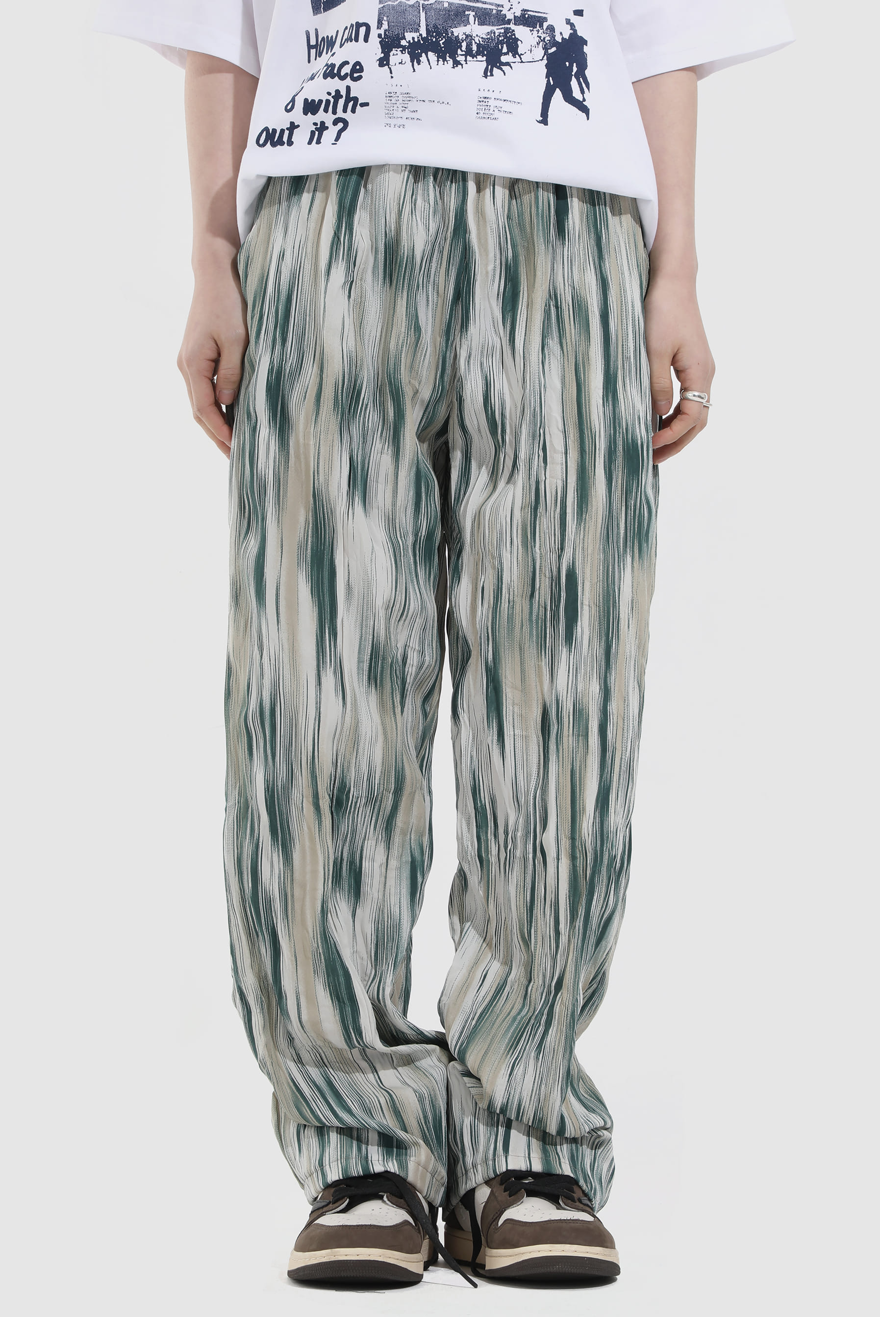 Color_Mix Wrinkle Pant