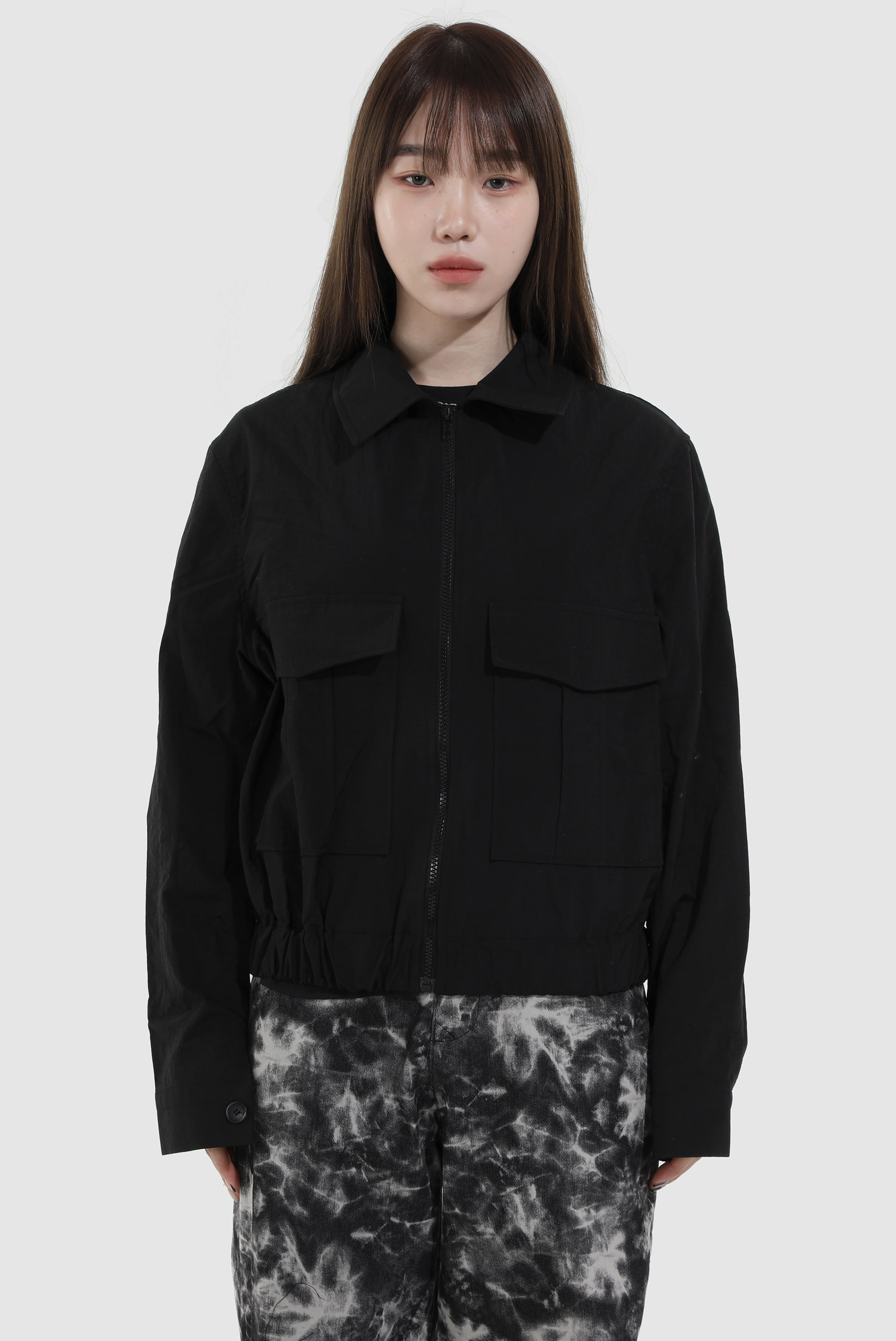 Two_Poket Nylon Jacket