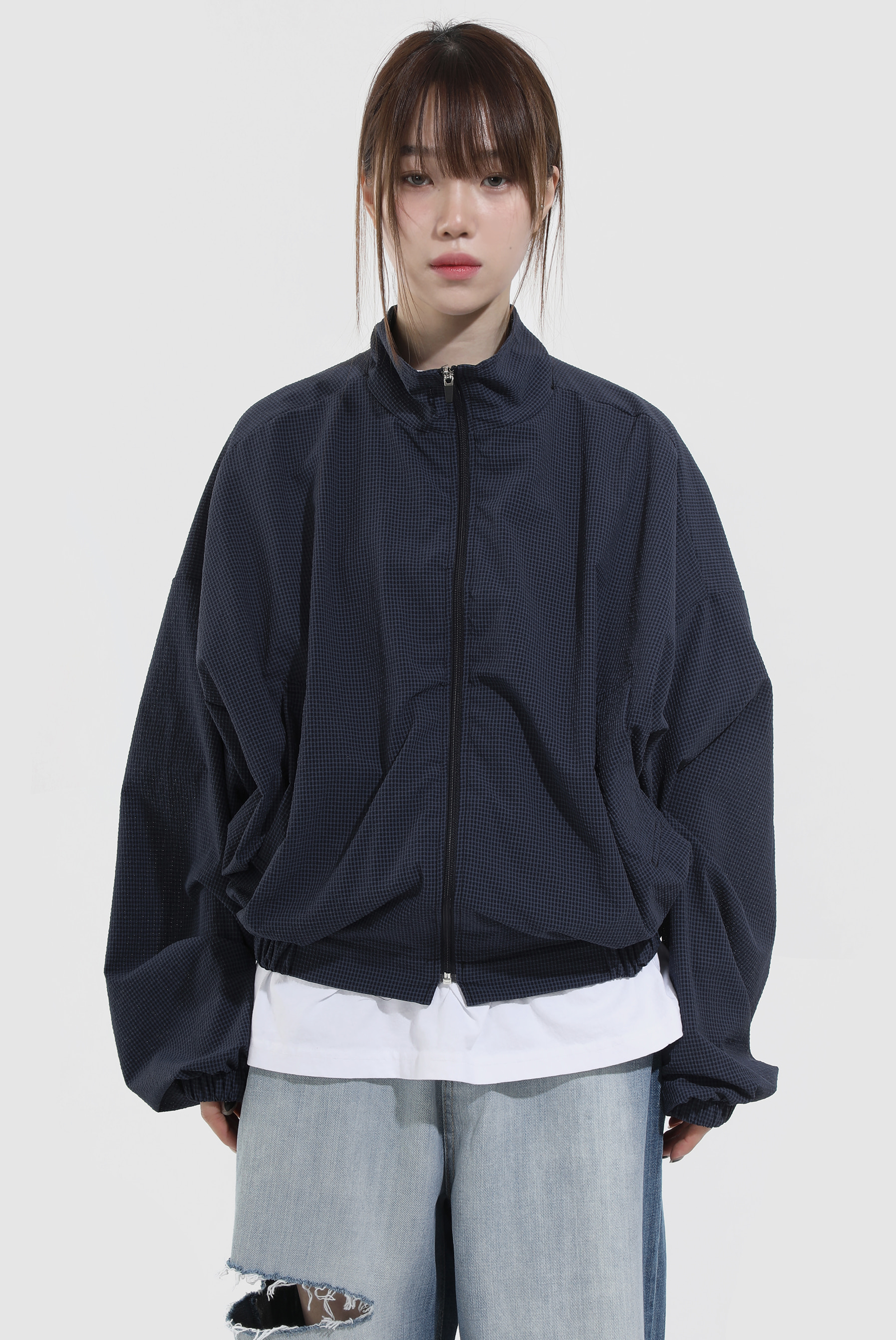 Wind_Check Blouson