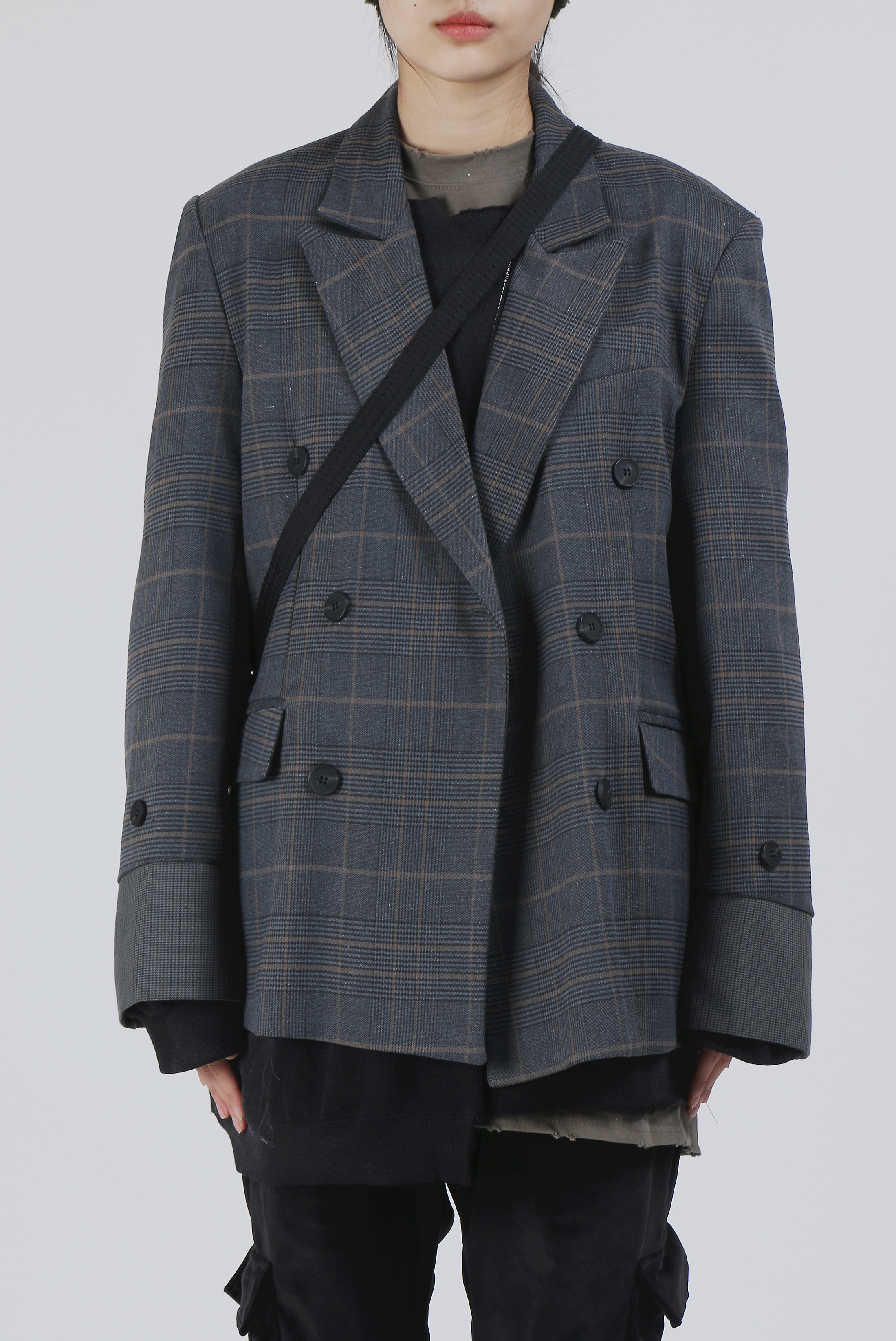 Glen Check Double_Jacket