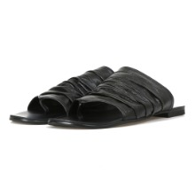 Leather_Shirring Slipper