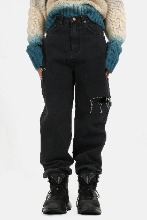 (W) Side_Damage Poket Denim_Pants