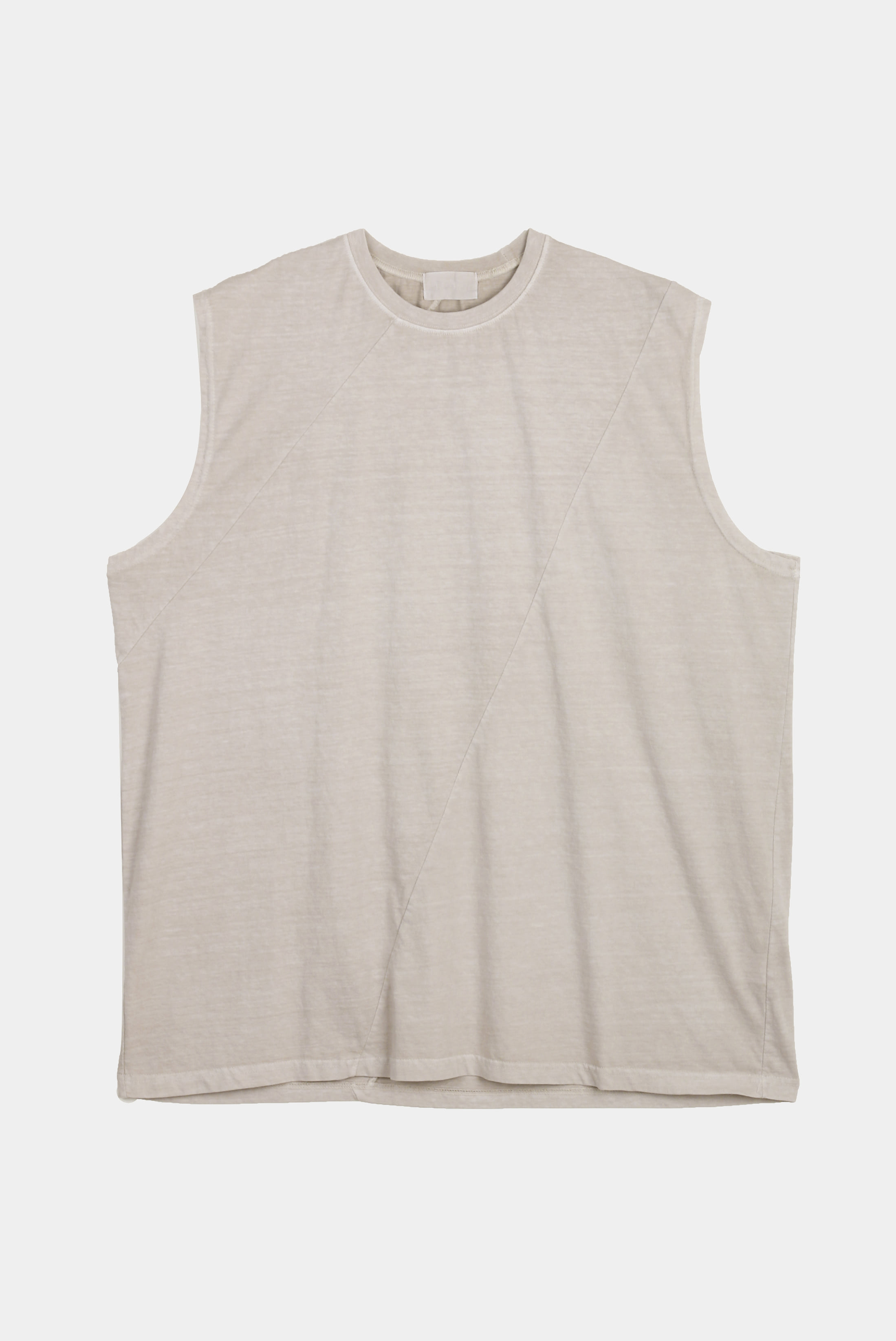 Pigment_Washing Diagonal Sleeveless