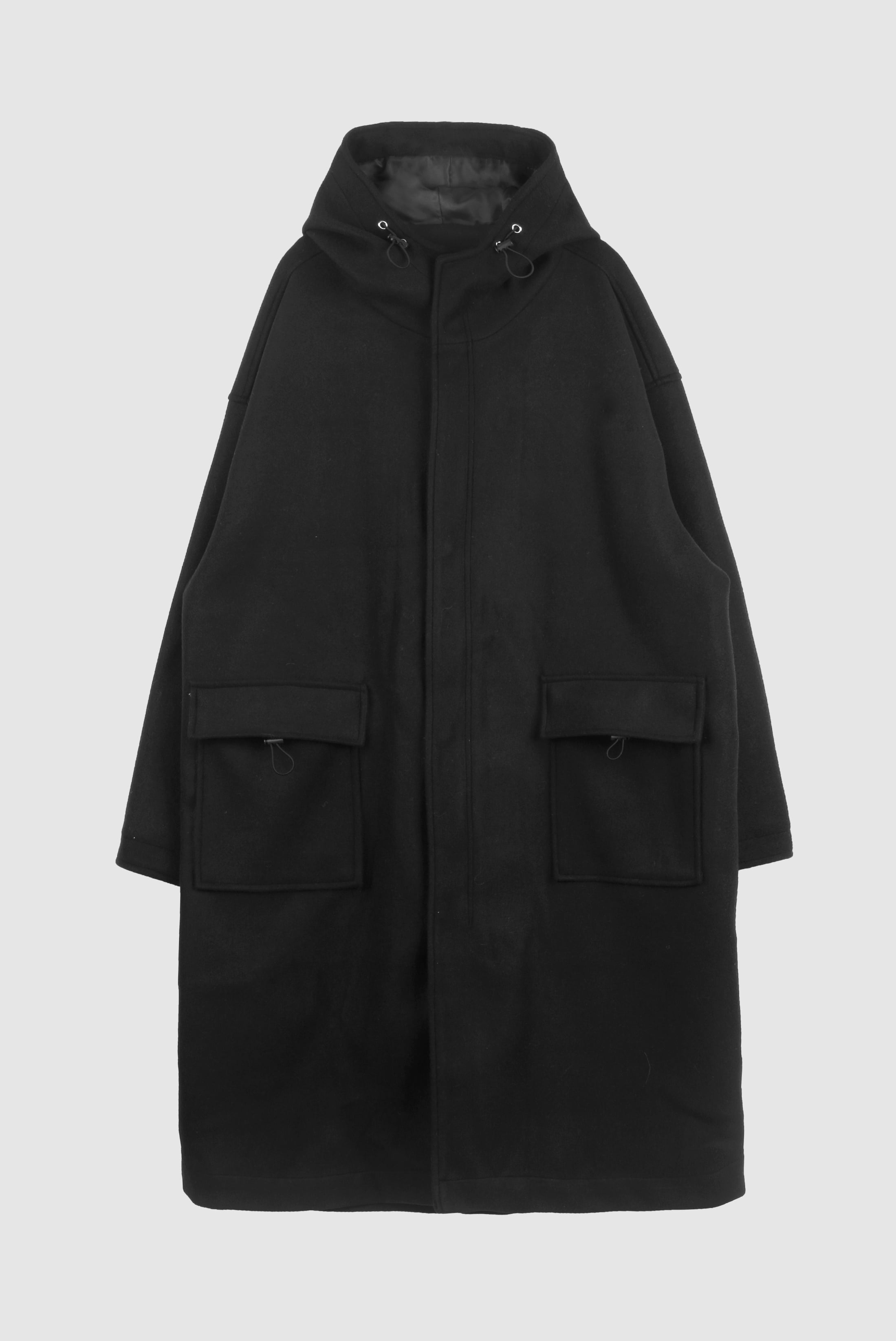 Over_Long String Hood_Coat