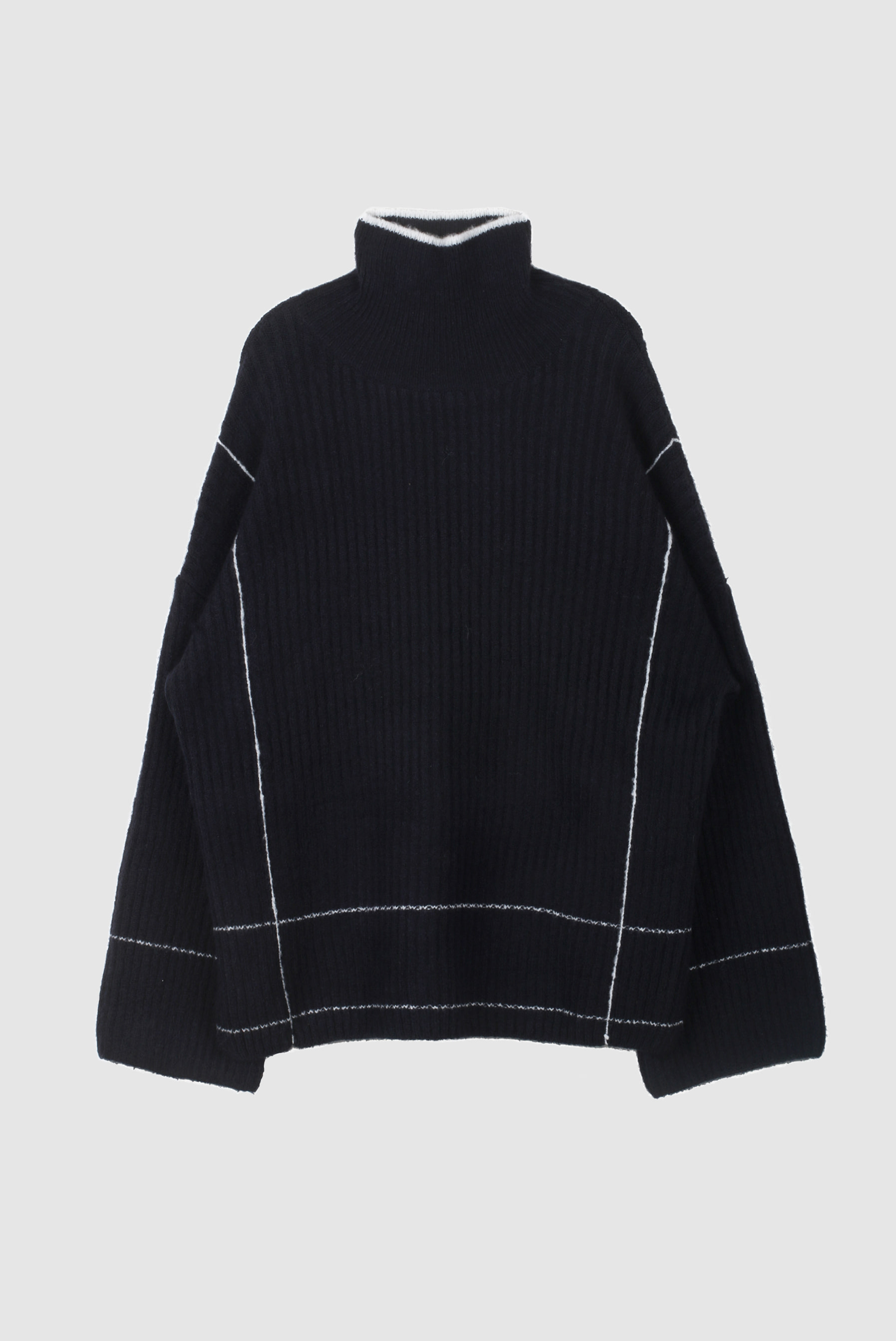 Line_Over Pola Knit