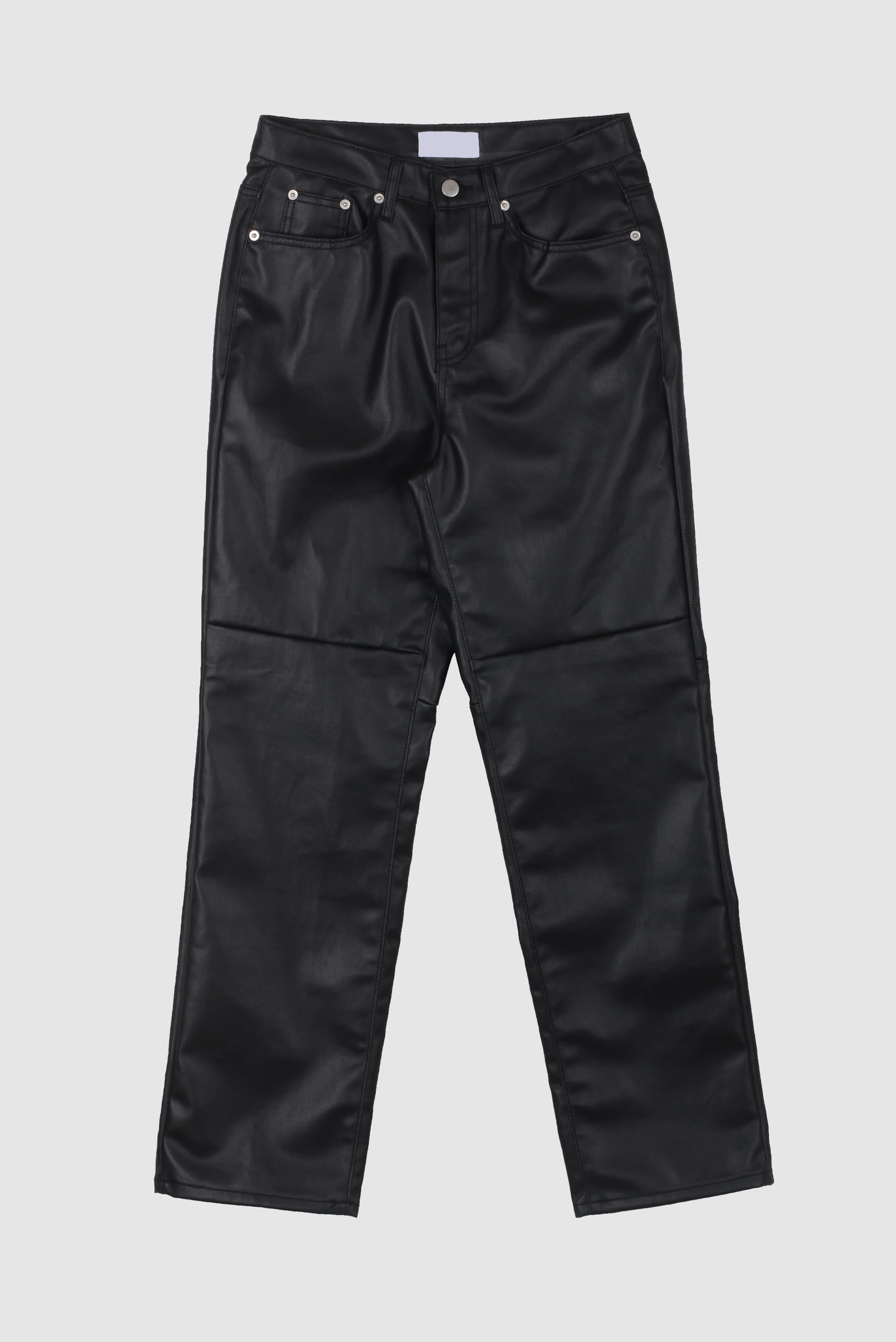 Leather_Incision Wide_Pants