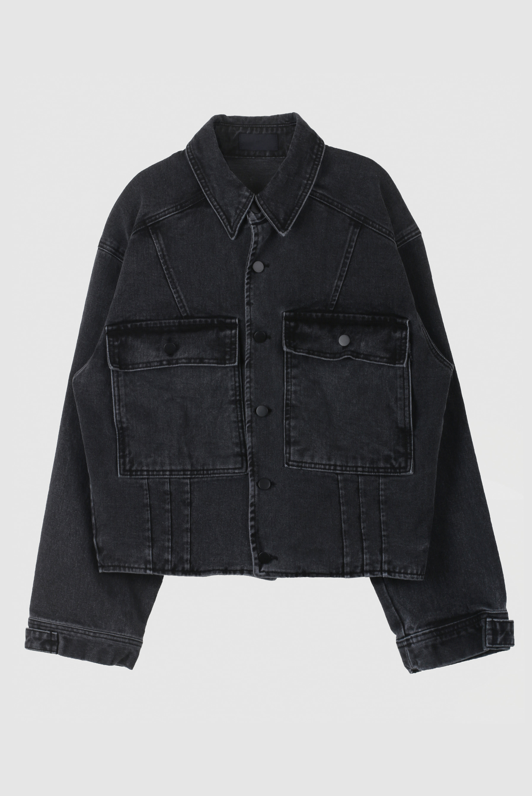 Track_Washing Black Denim_Jacket