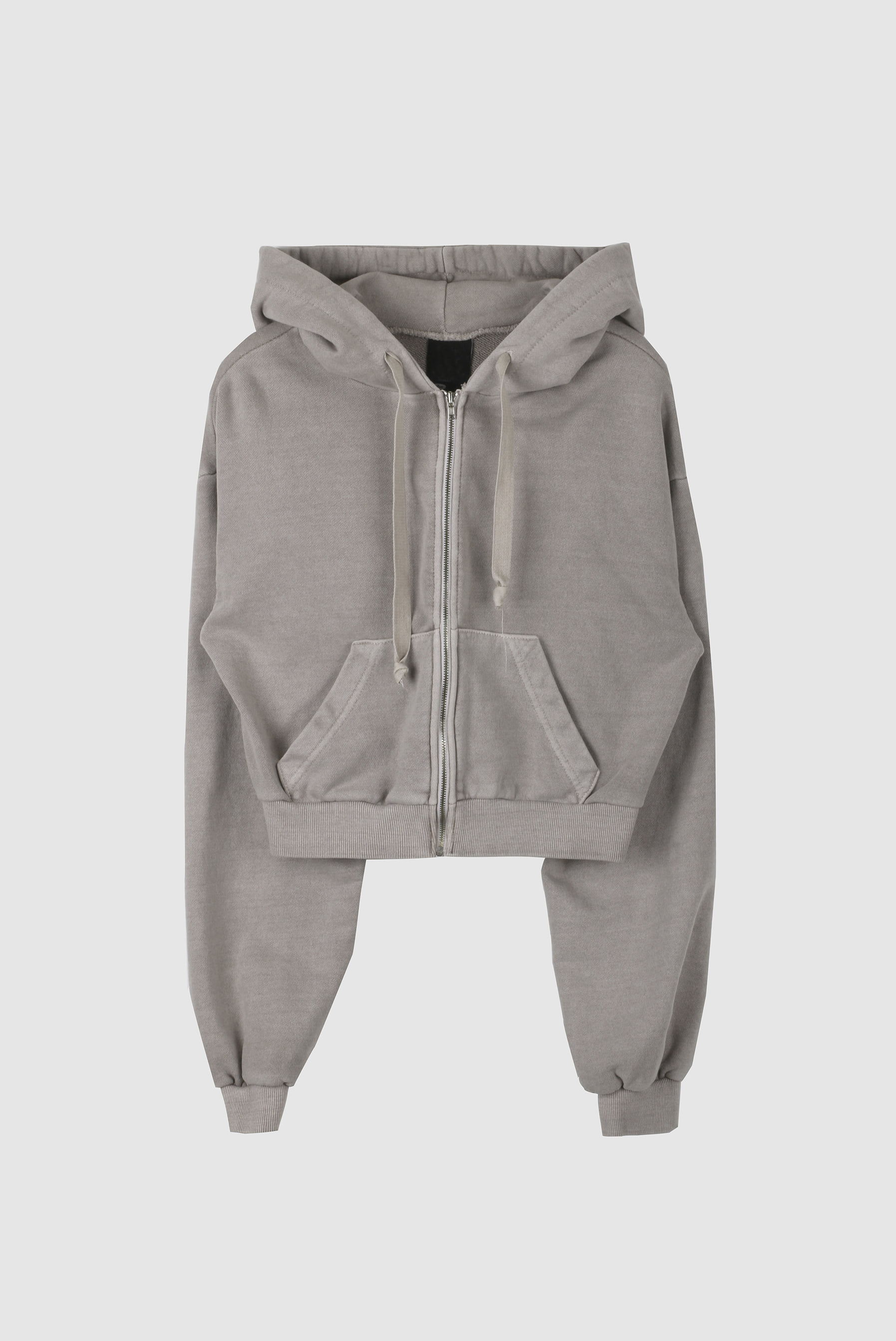 Crop Pigment Hood Zip-up