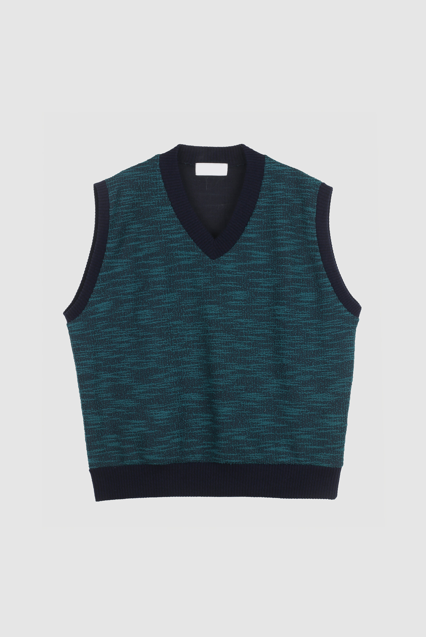 Lin_Tone TweedV_Neck_Vest