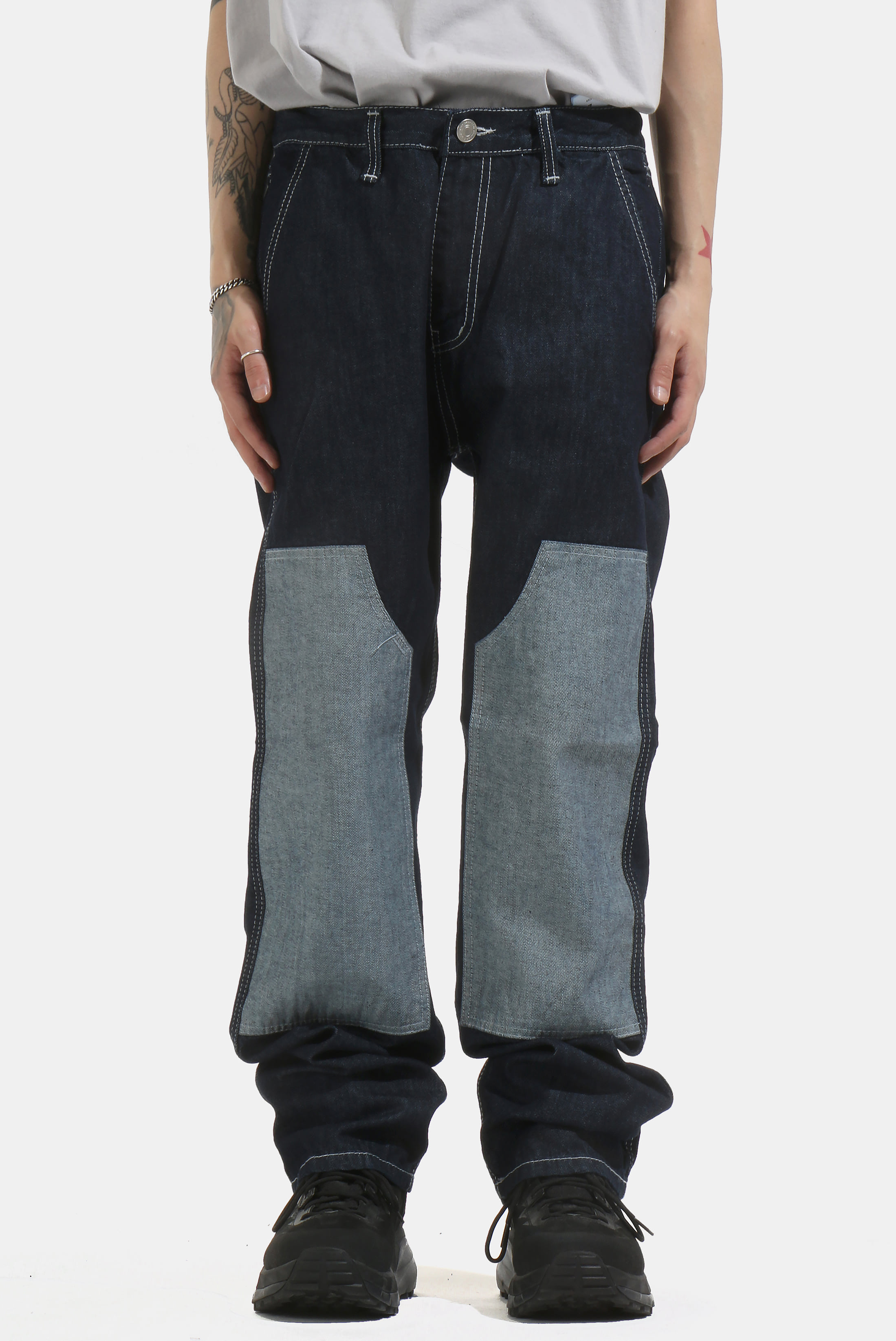 Patched Semi_Wide Pant