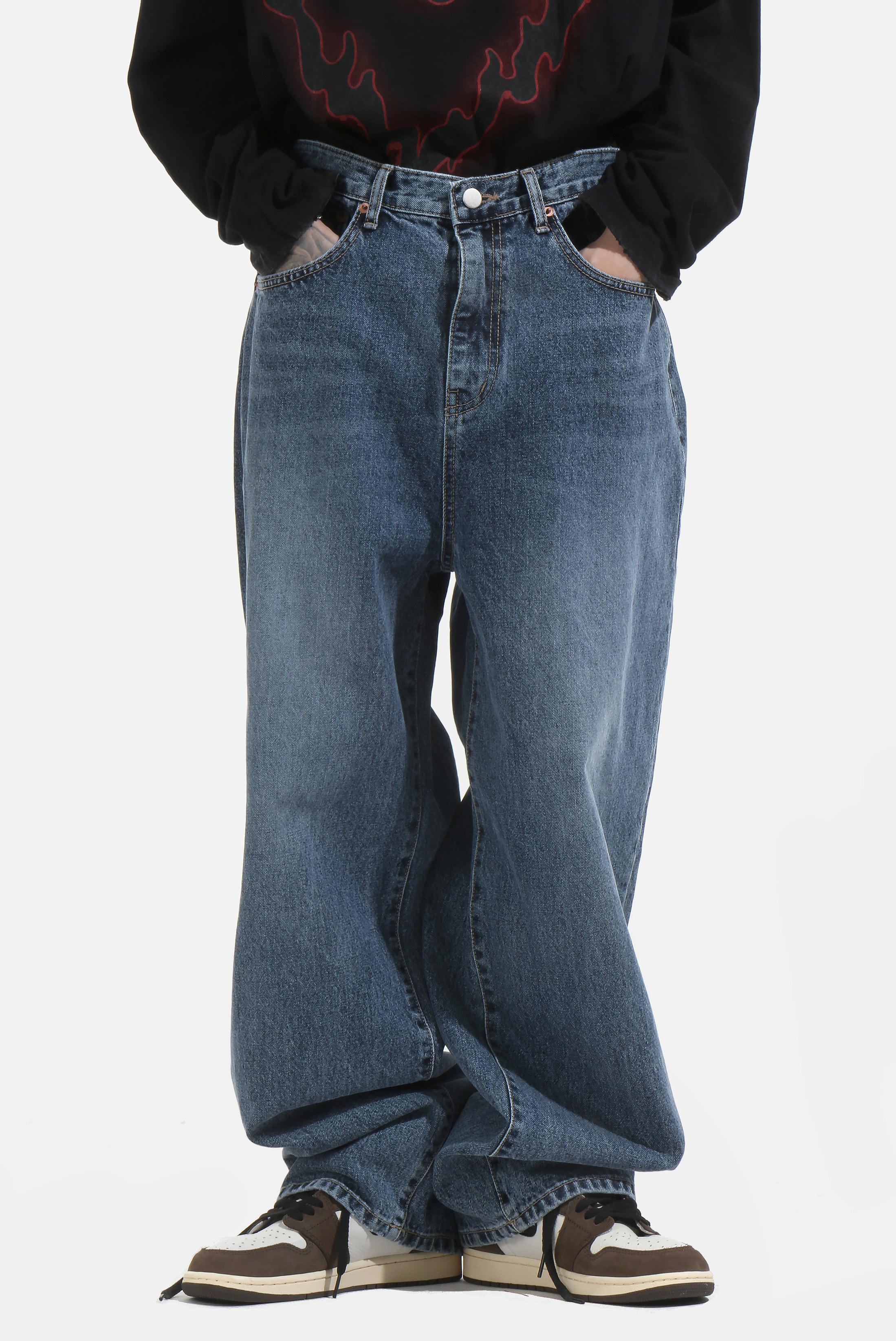 Slap_Over Wide Denim_Pants