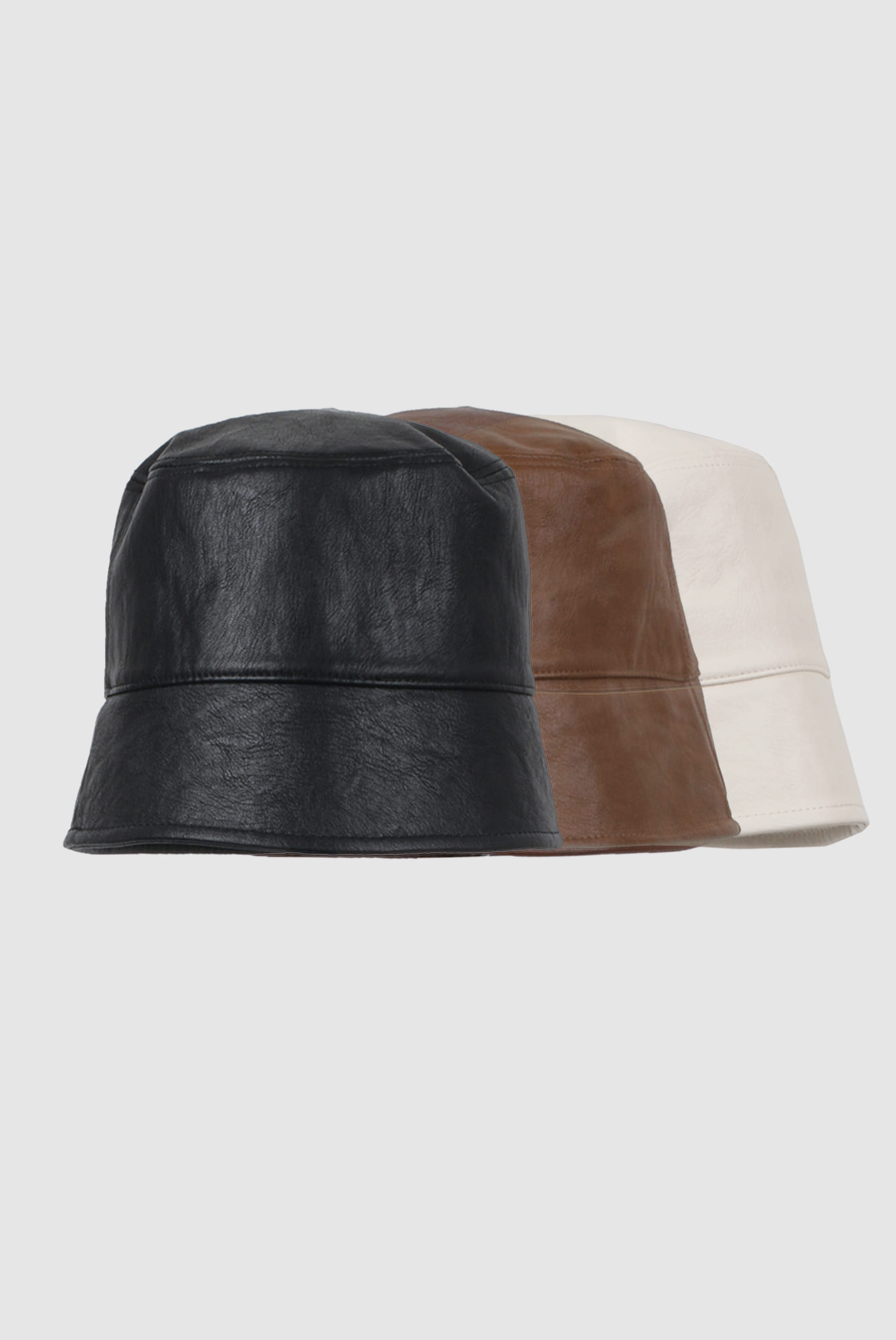Leather Dip_Down Bucket_Hat