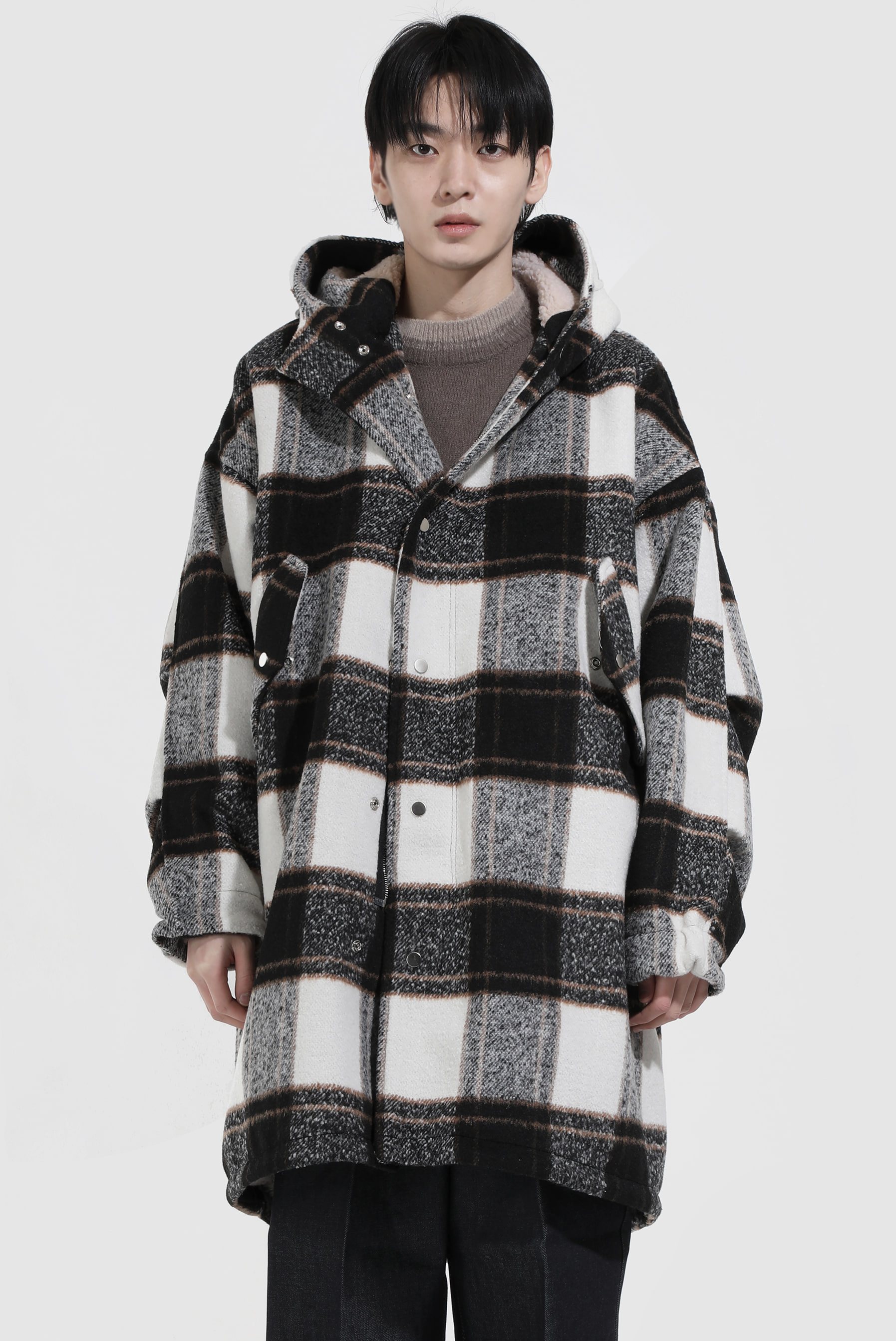 Wool_Fleece Field Hood_Coat