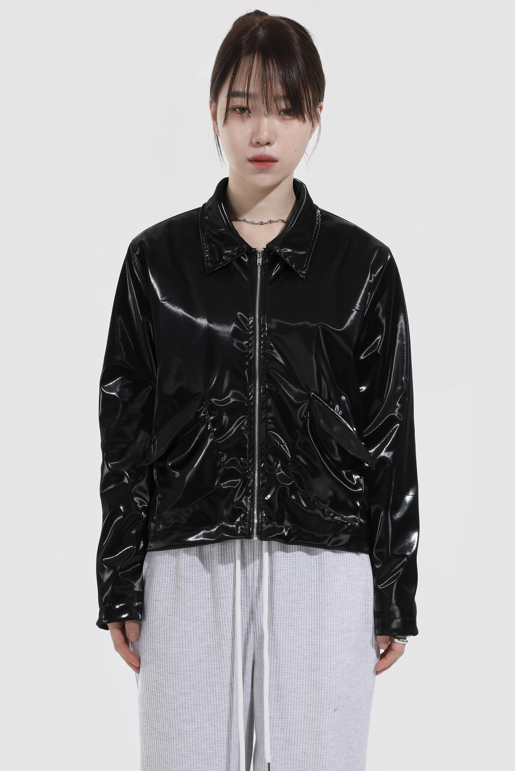 Shiny Mix Blouson