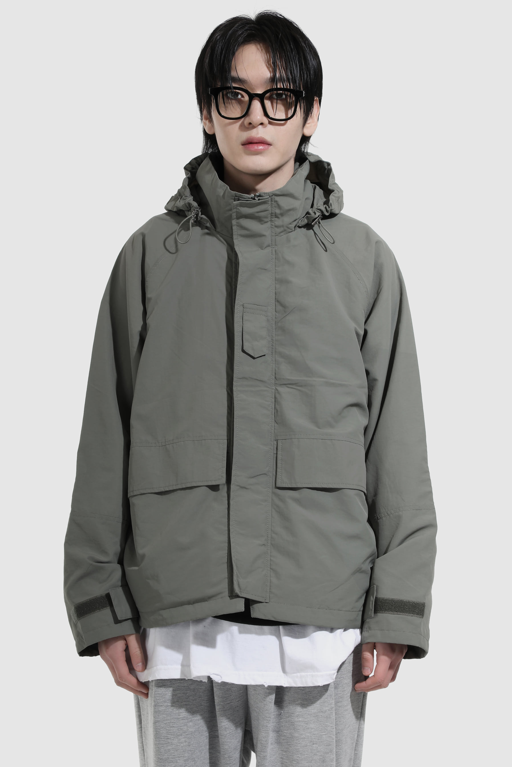 Nylon Hidden Hood_Jacket